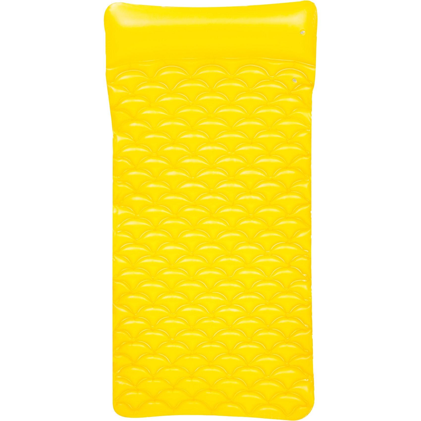 Матрас для плавания гибкий, 213х86 см, желтый, BestwayМатрас для плавания гибкий, 213х86 см, желтый, Bestway (Бествей)<br><br>Характеристики:<br><br>• яркий дизайн<br>• объемный подголовник<br>• максимальная нагрузка - 90 кг<br>• размер матраса: 213х86х15 см<br>• цвет: желтый<br>• материал: ПВХ<br>• вес: 1 кг<br><br>На ярком удобном матрасе вы всегда сможете отдохнуть с комфортом на суше или на воде. Матрас имеет очень привлекательный дизайн, оснащен удобным подголовником. Матрас выдерживает нагрузку до 90 килограммов. Размер матраса - 213х86 сантиметров.<br><br>Матрас для плавания гибкий, 213х86 см, желтый, Bestway (Бествей) можно купить в нашем интернет-магазине.<br><br>Ширина мм: 570<br>Глубина мм: 200<br>Высота мм: 270<br>Вес г: 999<br>Возраст от месяцев: 36<br>Возраст до месяцев: 2147483647<br>Пол: Унисекс<br>Возраст: Детский<br>SKU: 5486892