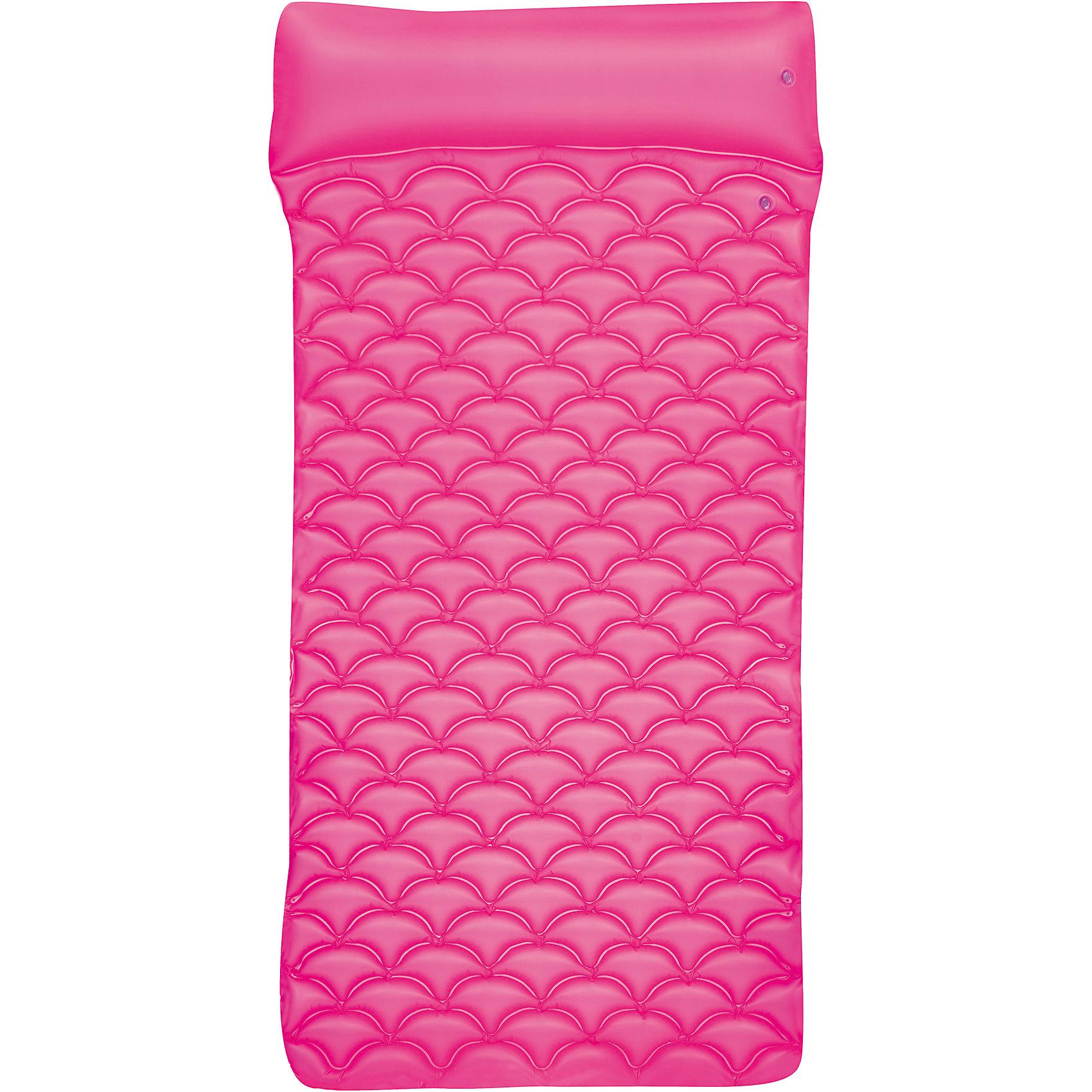 Матрас для плавания гибкий, 213х86 см, розовый, BestwayМатрас для плавания гибкий, 213х86 см, розовый, Bestway (Бествей)<br><br>Характеристики:<br><br>• яркий дизайн<br>• объемный подголовник<br>• максимальная нагрузка - 90 кг<br>• размер матраса: 213х86х15 см<br>• цвет: розовый<br>• материал: ПВХ<br>• вес: 1 кг<br><br>На ярком удобном матрасе вы всегда сможете отдохнуть с комфортом на суше или на воде. Матрас имеет очень привлекательный дизайн, оснащен удобным подголовником. Матрас выдерживает нагрузку до 90 килограммов. Размер матраса - 213х86 сантиметров.<br><br>Матрас для плавания гибкий, 213х86 см, розовый, Bestway (Бествей) можно купить в нашем интернет-магазине.<br><br>Ширина мм: 570<br>Глубина мм: 200<br>Высота мм: 270<br>Вес г: 999<br>Возраст от месяцев: 36<br>Возраст до месяцев: 2147483647<br>Пол: Женский<br>Возраст: Детский<br>SKU: 5486894