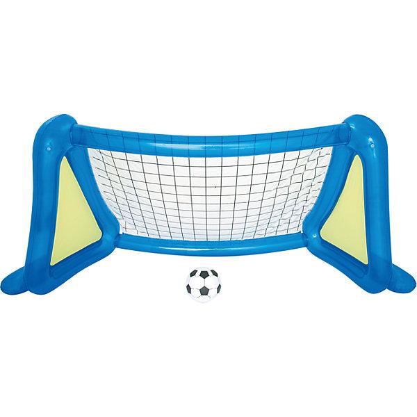 Футбольный набор: надувные ворота с брызгалкой + мяч, BestwayНасосы и аксессуары для бассейнов<br>Футбольный набор: надувные ворота с брызгалкой + мяч, Bestway (Бествей)<br><br>Характеристики:<br><br>• устойчивая конструкция<br>• освежающие брызгалки<br>• размер: 254х112х130 см<br>• размер мяча: 36 см<br>• размер упаковки: 10,5х40х40 см<br>• вес: 3,6 кг<br><br>Футбольный набор Bestway - отличный вариант для активного отдыха в жаркий день. Конструкция ворот будет устойчиво располагаться на земле, если вы нальете в нее воды. По бокам расположены две брызгалки, которые помогут детям освежиться во время игры. В комплект входят два мяча и заплатка для ремонта.<br><br>Футбольный набор: надувные ворота с брызгалкой + мяч, Bestway (Бествей) можно купить в нашем интернет-магазине.<br>Ширина мм: 420; Глубина мм: 335; Высота мм: 415; Вес г: 3585; Возраст от месяцев: 48; Возраст до месяцев: 2147483647; Пол: Унисекс; Возраст: Детский; SKU: 5486906;