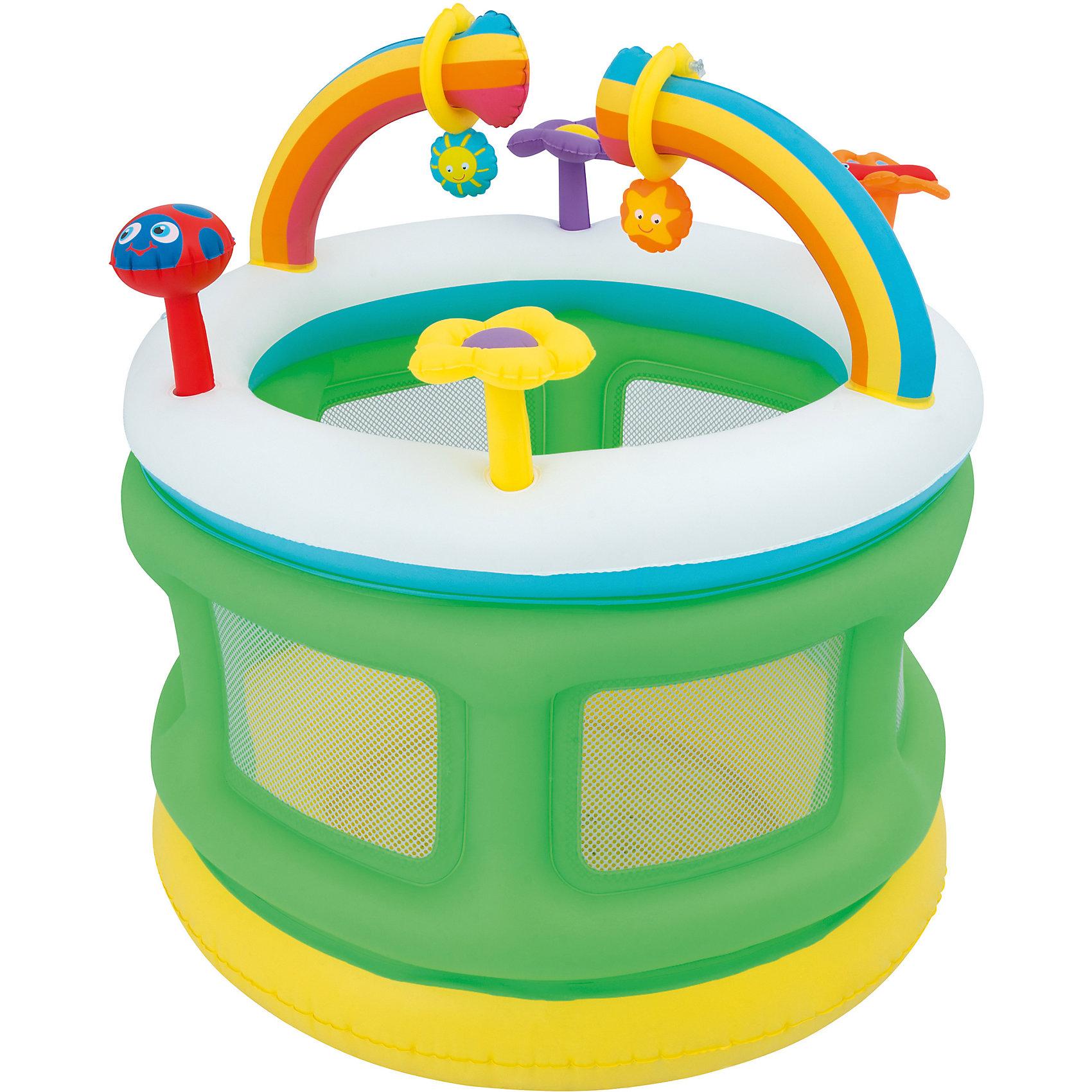 Надувной манеж, BestwayИгровые манежи<br>Надувной манеж, Bestway (Бествей)<br><br>Характеристики:<br><br>• мягкое дно и сетчатые стенки<br>• яркий дизайн<br>• 6 игрушек в комплекте<br>• высокие бортики<br>• размер: 109х104 см<br>• материал: ПВХ<br>• размер упаковки: 9х35х33 см<br>• вес: 2,7 кг<br><br>Надувной манеж Bestway отлично подойдет для игр малышей. Для комфорта и безопасности крохи предусмотрены сетчатые стенки и мягкое дно. В комплект входят 6 ярких игрушек, которые обязательно вызовут интерес у ребенка. Высокие бортики предотвратят падения и ушибы. <br><br>Надувной манеж, Bestway (Бествей) можно купить в нашем интернет-магазине.<br><br>Ширина мм: 385<br>Глубина мм: 350<br>Высота мм: 370<br>Вес г: 2712<br>Возраст от месяцев: 12<br>Возраст до месяцев: 2147483647<br>Пол: Унисекс<br>Возраст: Детский<br>SKU: 5486910