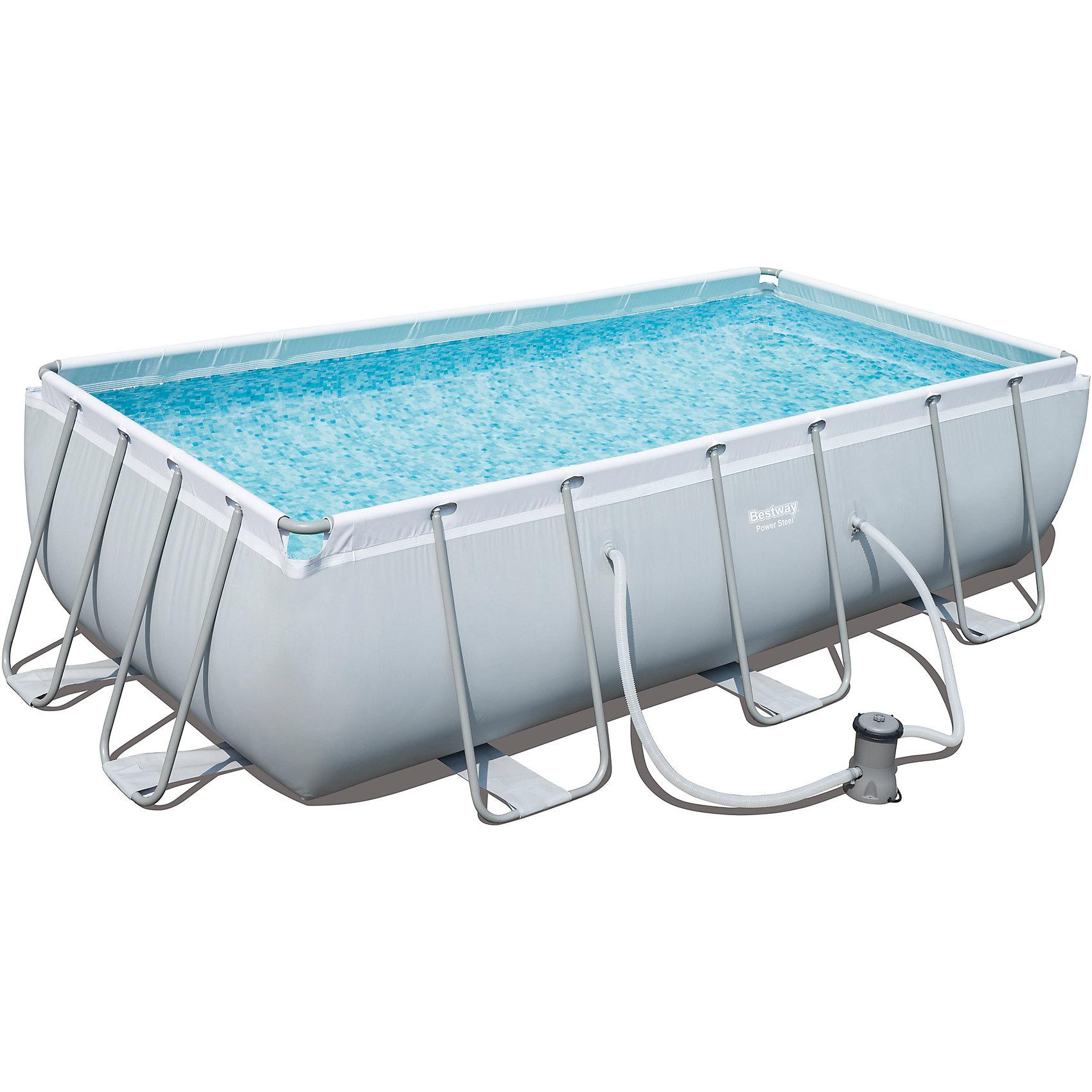 Каркасный бассейн с ф.-насосом 6478 л, BestwayКаркасный бассейн с ф.-насосом 6478 л, Bestway (Бествей)<br><br>Характеристики:<br><br>• прочный и устойчивый<br>• каркас из нержавеющей стали<br>• легко собирается и разбирается<br>• сливной клапан можно подключить к садовому шлангу<br>• объем: 4531 л<br>• система фильтрации 2006 л/ч<br>• размер: 404х201х100 см<br>• в комплекте: бассейн, насос, ремкомплект, инструкция, DVD<br>• размер упаковки: 61,5х41,5х15,5 см<br>• вес: 51 кг<br><br>Каркасный бассейн Bestway очень прочный и устойчивый. Каркас изготовлен из нержавеющей стали. Чаша бассейна изготовлена из двухслойного винила и полиэстера. Бассейн оснащен сливным клапаном, который возможно подключить к садовому шлангу. Процесс сборки и подключения очень прост. Кроме того, в комплект входит подробная инструкция по эксплуатации и DVD диск, предоставляющий полную информацию об использовании бассейна. Общее время сборки и подключения не превышает 2-3 часа.<br><br>Каркасный бассейн с ф.-насосом 6478 л, Bestway (Бествей) вы можете купить в нашем интернет-магазине.<br><br>Ширина мм: 595<br>Глубина мм: 315<br>Высота мм: 1290<br>Вес г: 51012<br>Возраст от месяцев: 72<br>Возраст до месяцев: 2147483647<br>Пол: Унисекс<br>Возраст: Детский<br>SKU: 5486912