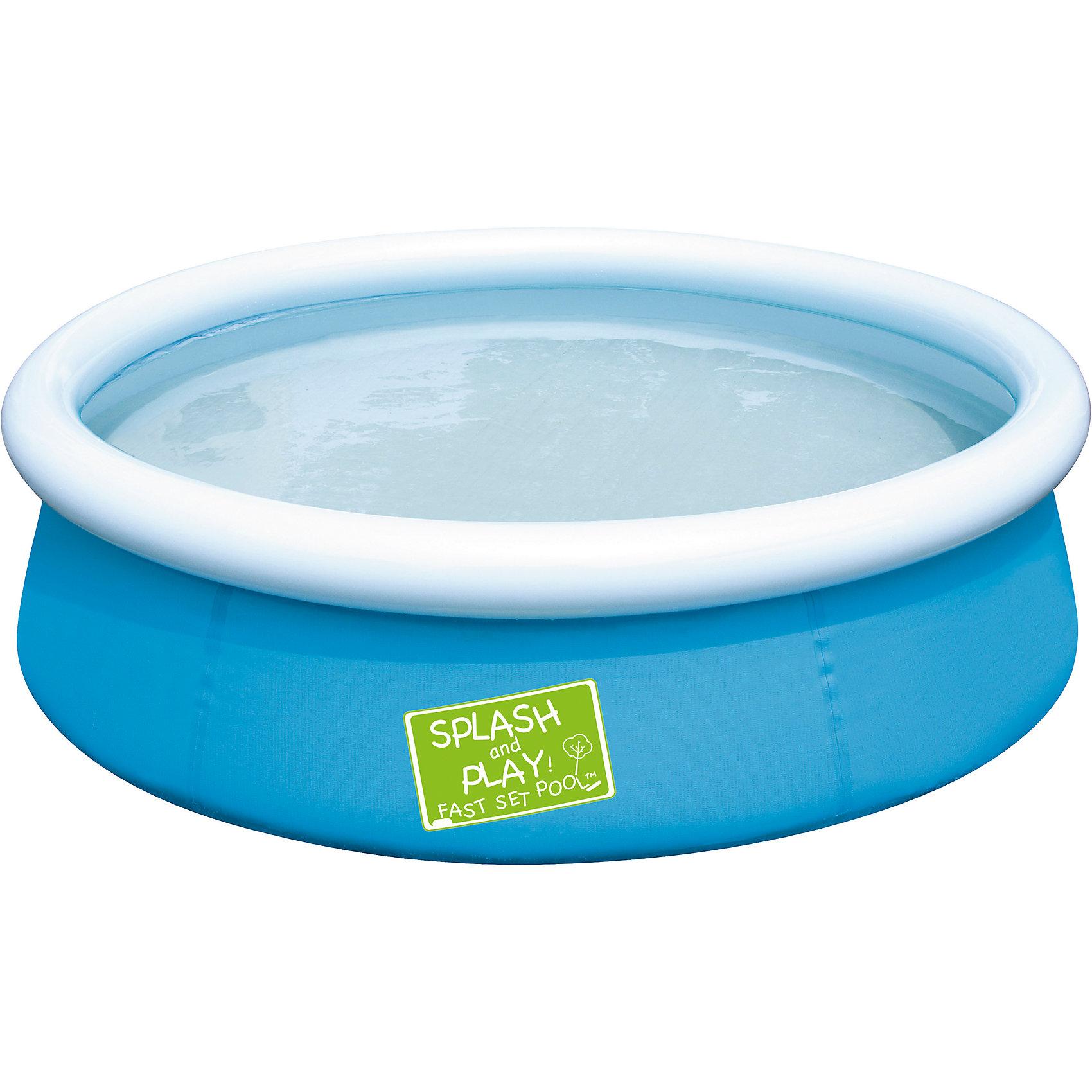 Бассейн с надувным бортом , голубой, Bestway