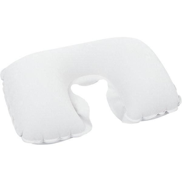 Подушка надувная под шею, белая, BestwayКруги и нарукавники<br>Подушка надувная под шею, белая Bestway (Бествей)<br><br>Характеристики:<br><br>• прочная и мягкая<br>• надежно фиксирует голову<br>• размер: 46х28х12 см<br>• максимальная нагрузка: 25 кг<br>• цвет: белый<br>• вес: 105 грамм<br><br>Надувная подушка Bestway позаботится о вашем комфорте во время поездки или путешествий. Подушка позволяет расслабить мышцы шеи, надежно фиксируя голову. А ее поверхность отличается мягкостью. Подушка легко чистится при необходимости. Изготовлена из прочных, износостойких материалов.<br><br>Подушку надувную под шею, белая, Bestway (Бествей) вы можете купить в нашем интернет-магазине.<br>Ширина мм: 360; Глубина мм: 300; Высота мм: 260; Вес г: 105; Возраст от месяцев: 72; Возраст до месяцев: 2147483647; Пол: Унисекс; Возраст: Детский; SKU: 5486929;