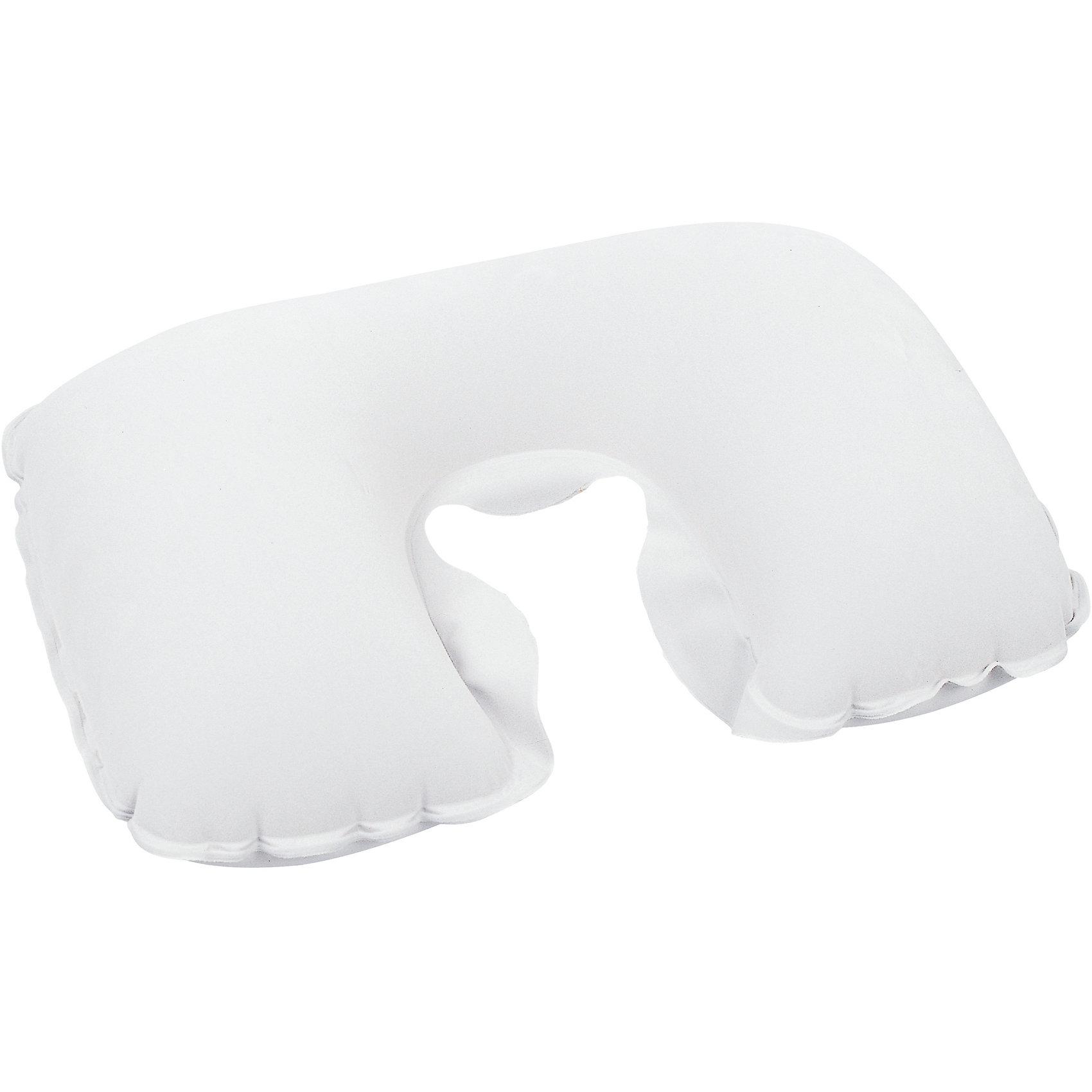Подушка надувная под шею, белая, BestwayШейные подушки<br>Подушка надувная под шею, белая Bestway (Бествей)<br><br>Характеристики:<br><br>• прочная и мягкая<br>• надежно фиксирует голову<br>• размер: 46х28х12 см<br>• максимальная нагрузка: 25 кг<br>• цвет: белый<br>• вес: 105 грамм<br><br>Надувная подушка Bestway позаботится о вашем комфорте во время поездки или путешествий. Подушка позволяет расслабить мышцы шеи, надежно фиксируя голову. А ее поверхность отличается мягкостью. Подушка легко чистится при необходимости. Изготовлена из прочных, износостойких материалов.<br><br>Подушку надувную под шею, белая, Bestway (Бествей) вы можете купить в нашем интернет-магазине.<br><br>Ширина мм: 360<br>Глубина мм: 300<br>Высота мм: 260<br>Вес г: 105<br>Возраст от месяцев: 72<br>Возраст до месяцев: 2147483647<br>Пол: Унисекс<br>Возраст: Детский<br>SKU: 5486929