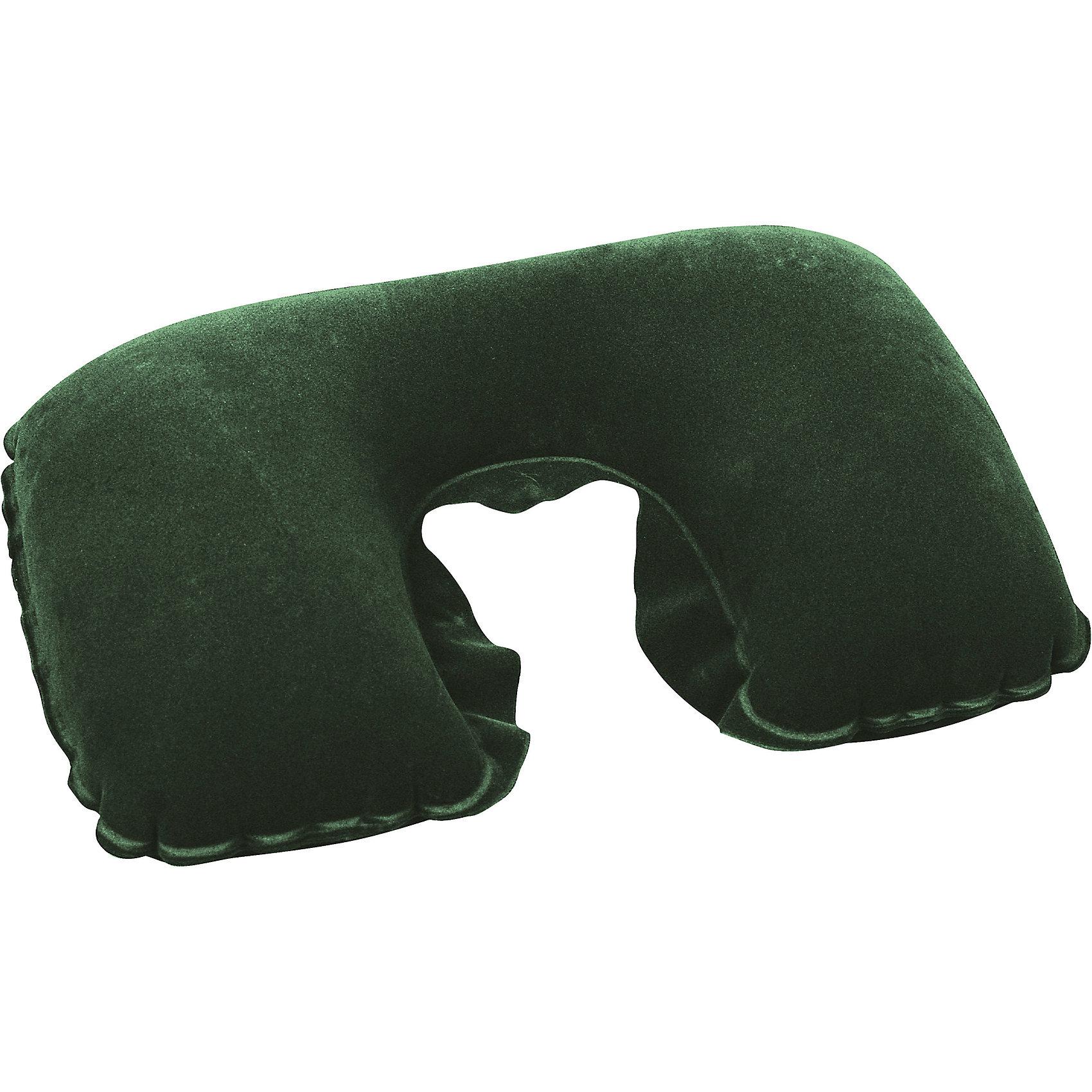 Подушка надувная под шею, темно-зеленая, BestwayШейные подушки<br>Подушка надувная под шею, темно-зеленая, Bestway (Бествей)<br><br>Характеристики:<br><br>• прочная и мягкая<br>• надежно фиксирует голову<br>• размер: 46х28х12 см<br>• максимальная нагрузка: 25 кг<br>• цвет: темно-зеленый<br>• вес: 105 грамм<br><br>Надувная подушка Bestway позаботится о вашем комфорте во время поездки или путешествий. Подушка позволяет расслабить мышцы шеи, надежно фиксируя голову. А ее поверхность отличается мягкостью. Подушка легко чистится при необходимости. Изготовлена из прочных, износостойких материалов.<br><br>Подушку надувную под шею, темно-зеленый, Bestway (Бествей) вы можете купить в нашем интернет-магазине.<br><br>Ширина мм: 360<br>Глубина мм: 300<br>Высота мм: 260<br>Вес г: 105<br>Возраст от месяцев: 72<br>Возраст до месяцев: 2147483647<br>Пол: Унисекс<br>Возраст: Детский<br>SKU: 5486930