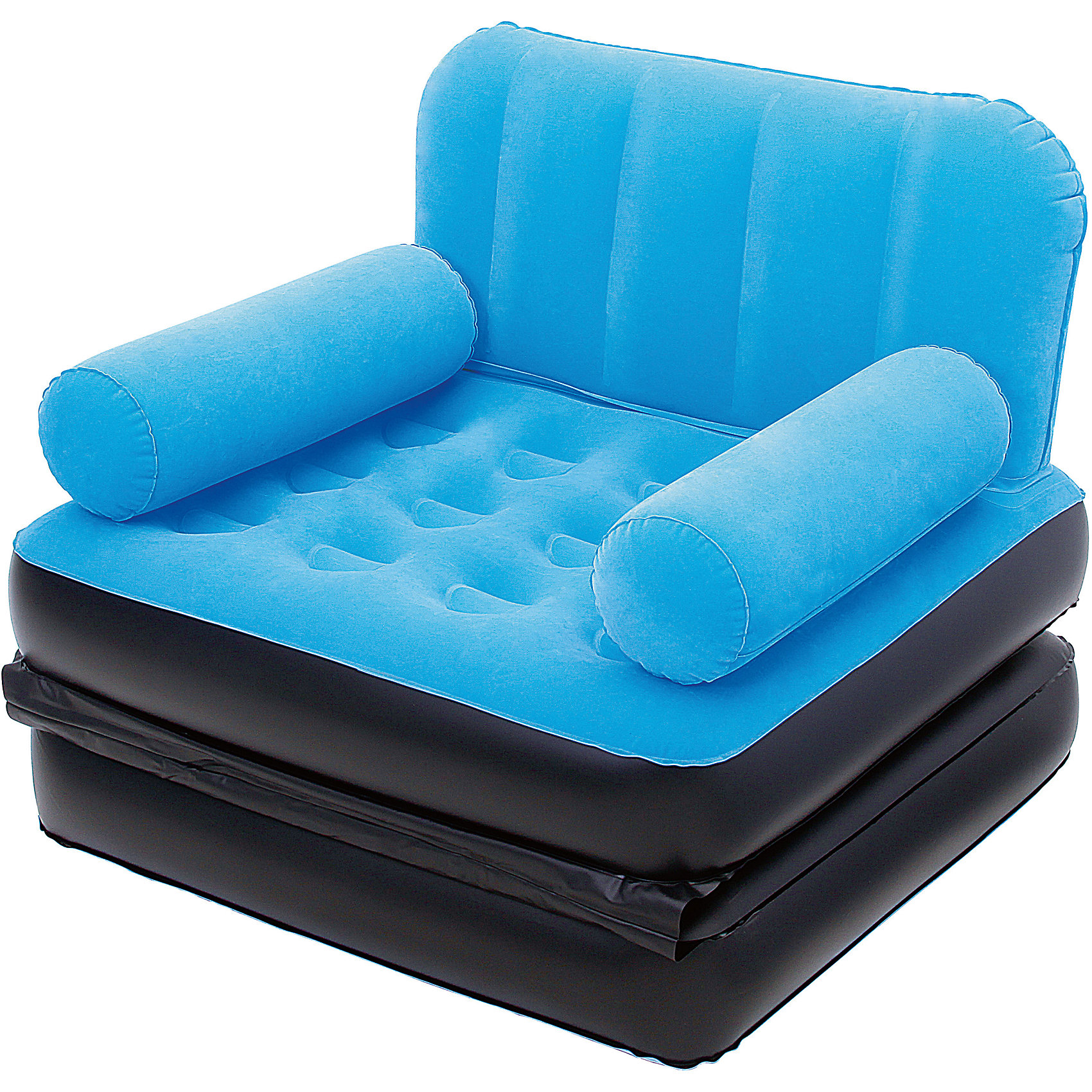 Кресло-кровать надувное, голубое, BestwayМебель<br>Кресло-кровать надувное, голубое, Bestway (Бествей)<br><br>Характеристики:<br><br>• яркое кресло легко трансформируется в кровать<br>• быстро надувается<br>• прочное<br>• материал: винил<br>• размер: 193х102х64 см<br>• цвет: голубой<br>• максимальная нагрузка: 223 кг<br>• вес: 3 кг<br><br>Яркое кресло Bestway легко и быстро трансформируется в односпальную кровать. Привлекательный дизайн украсит интерьер любого помещения. Вы можете использовать кресло дома или на открытом воздухе. Процесс установки занимает не более пяти минут. Кресло изготовлено из винила высокой прочности. С этим креслом вы сможете значительно сэкономить место в вашем доме.<br><br>Кресло-кровать надувное, голубое, Bestway (Бествей) вы можете купить в нашем интернет-магазине.<br><br>Ширина мм: 635<br>Глубина мм: 350<br>Высота мм: 370<br>Вес г: 2983<br>Возраст от месяцев: 72<br>Возраст до месяцев: 2147483647<br>Пол: Унисекс<br>Возраст: Детский<br>SKU: 5486938