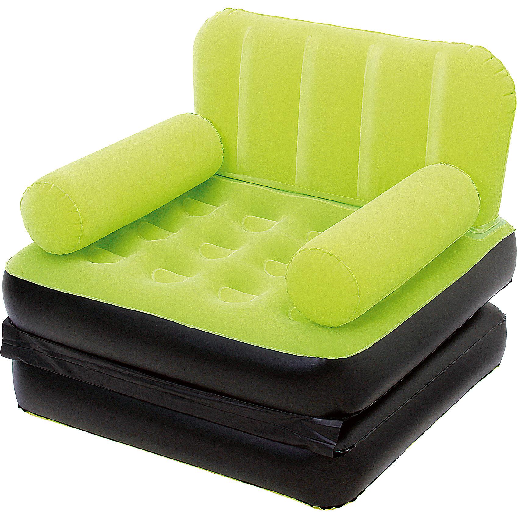 Кресло-кровать надувное, зеленое, BestwayМебель<br>Кресло-кровать надувное, зеленое, Bestway (Бествей)<br><br>Характеристики:<br><br>• яркое кресло легко трансформируется в кровать<br>• быстро надувается<br>• прочное<br>• материал: винил<br>• размер: 193х102х64 см<br>• цвет: зеленый<br>• максимальная нагрузка: 223 кг<br>• вес: 3 кг<br><br>Яркое кресло Bestway легко и быстро трансформируется в односпальную кровать. Привлекательный дизайн украсит интерьер любого помещения. Вы можете использовать кресло дома или на открытом воздухе. Процесс установки занимает не более пяти минут. Кресло изготовлено из винила высокой прочности. С этим креслом вы сможете значительно сэкономить место в вашем доме.<br><br>Кресло-кровать надувное, зеленое, Bestway (Бествей) вы можете купить в нашем интернет-магазине.<br><br>Ширина мм: 635<br>Глубина мм: 350<br>Высота мм: 370<br>Вес г: 2983<br>Возраст от месяцев: 72<br>Возраст до месяцев: 2147483647<br>Пол: Унисекс<br>Возраст: Детский<br>SKU: 5486939