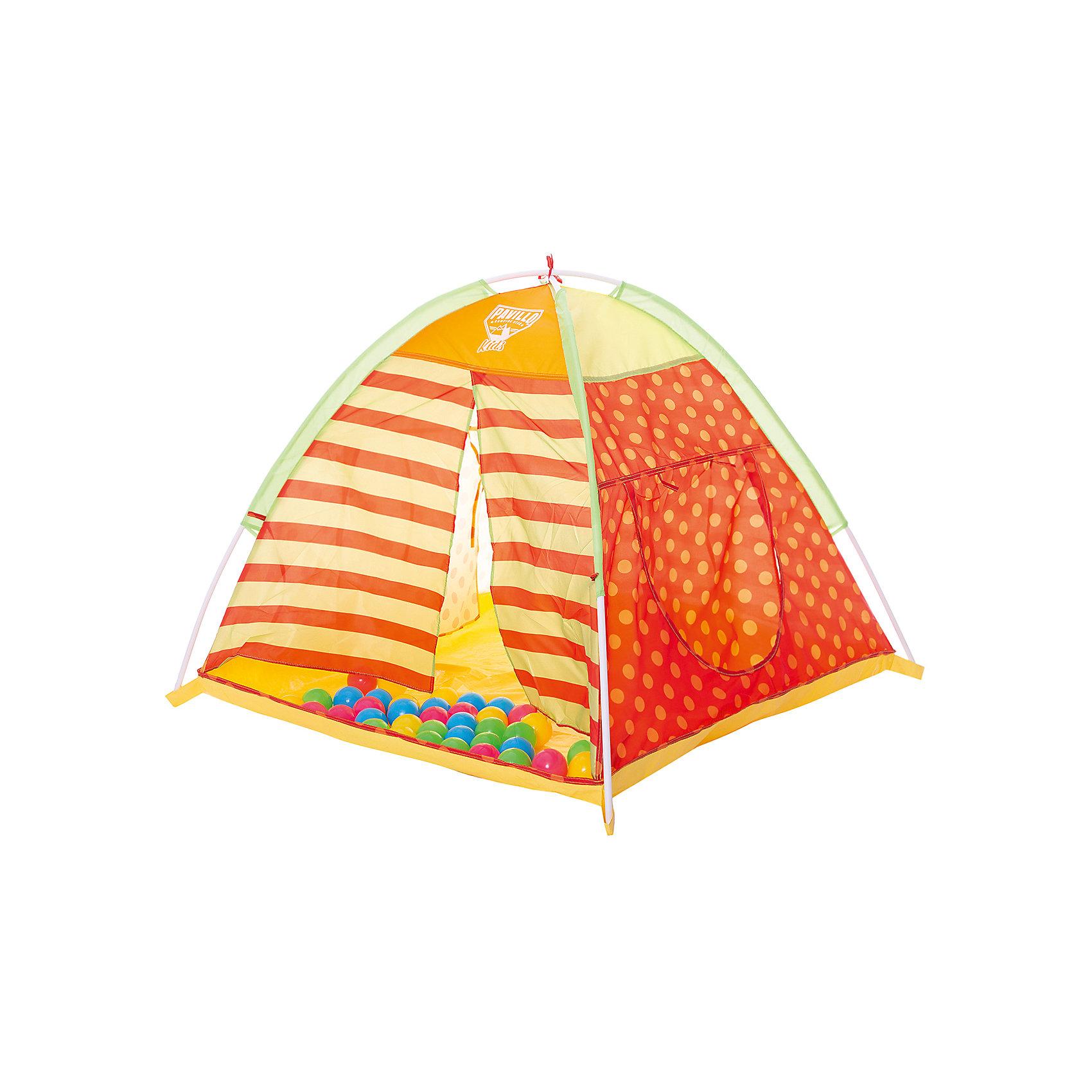 Детская палатка для игр с 40 шариками, BestwayИгровые палатки<br>Детская палатка для игр с 40 шариками, Bestway (Бествей)<br><br>Характеристики:<br><br>• яркий дизайн<br>• 40 шариков в комплекте<br>• размер: 112х112х90 см<br>• материал: металл, полиэстер<br>• размер упаковки: 10х54х26 см<br>• вес: 1,26 кг<br><br>В детской палатке можно придумать самые разнообразные игры! Ребенок сможет укрыться от воображаемого дождя, пригласить друзей на чаепитие или придумать другие интересные игры. В комплект входят 40 разноцветных шариков, которые можно собрать в палатке или разложить по комнате. Палатка представляет собой устойчивую конструкцию с ярким дизайном. По бокам расположены разные входы. Ребенок сможет использовать их по своему усмотрению, как подскажет его фантазия.<br><br>Детскую палатку для игр с 40 шариками, Bestway (Бествей) можно купить в нашем интернет-магазине.<br><br>Ширина мм: 550<br>Глубина мм: 420<br>Высота мм: 280<br>Вес г: 1260<br>Возраст от месяцев: 72<br>Возраст до месяцев: 2147483647<br>Пол: Унисекс<br>Возраст: Детский<br>SKU: 5486952