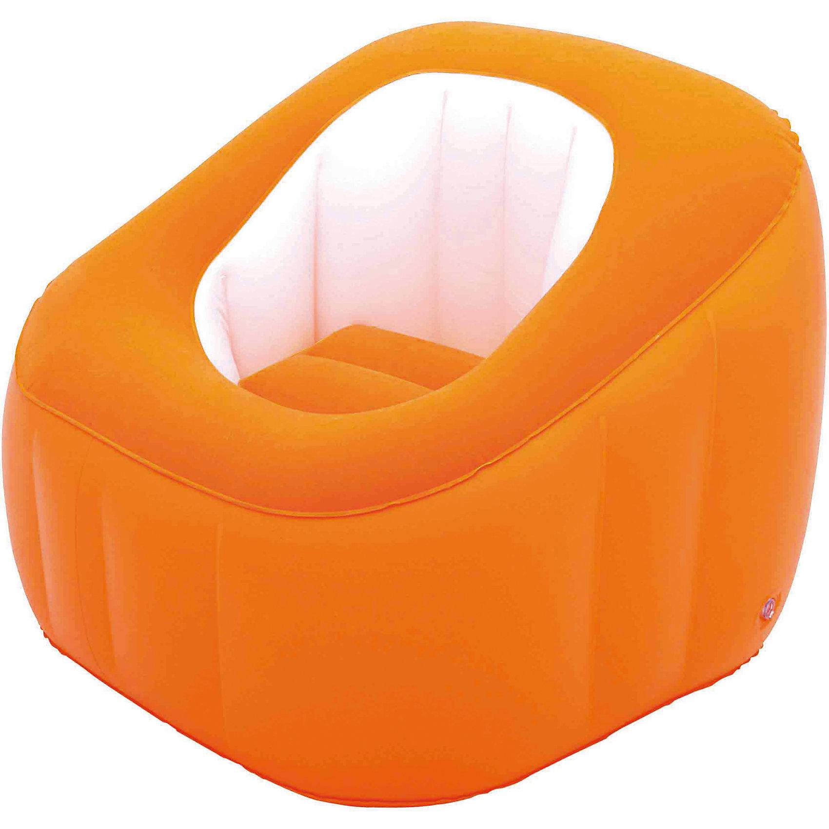 Кресло надувное, 74х74х64 см, оранжевое, BestwayМягкая игровая мебель<br>Кресло надувное, 74х74х64 см, оранжевое, Bestway (Бествей)<br><br>Характеристики:<br><br>• непромокаемый низ<br>• мягкая поверхность<br>• прочные материалы<br>• размер: 74х74х64 см<br>• заплатка в комплекте<br>• материал: ПВХ<br>• цвет: оранжевый<br>• размер упаковки: 29,5х30х7 см<br>• вес: 1,6 кг<br><br>Надувное кресло Bestway прекрасно впишется в интерьер комнаты и подойдет для отдыха на природе. Мягкая поверхность позволит вам расположиться с комфортом в любой обстановке. Непромокаемый низ пригодится для отдыха на свежем воздухе. Размер кресла - 74х64 сантиметра.<br><br>Кресло надувное, 74х74х64 см, оранжевое, Bestway (Бествей) можно купить в нашем интернет-магазине.<br><br>Ширина мм: 450<br>Глубина мм: 305<br>Высота мм: 310<br>Вес г: 1606<br>Возраст от месяцев: 72<br>Возраст до месяцев: 2147483647<br>Пол: Унисекс<br>Возраст: Детский<br>SKU: 5486954