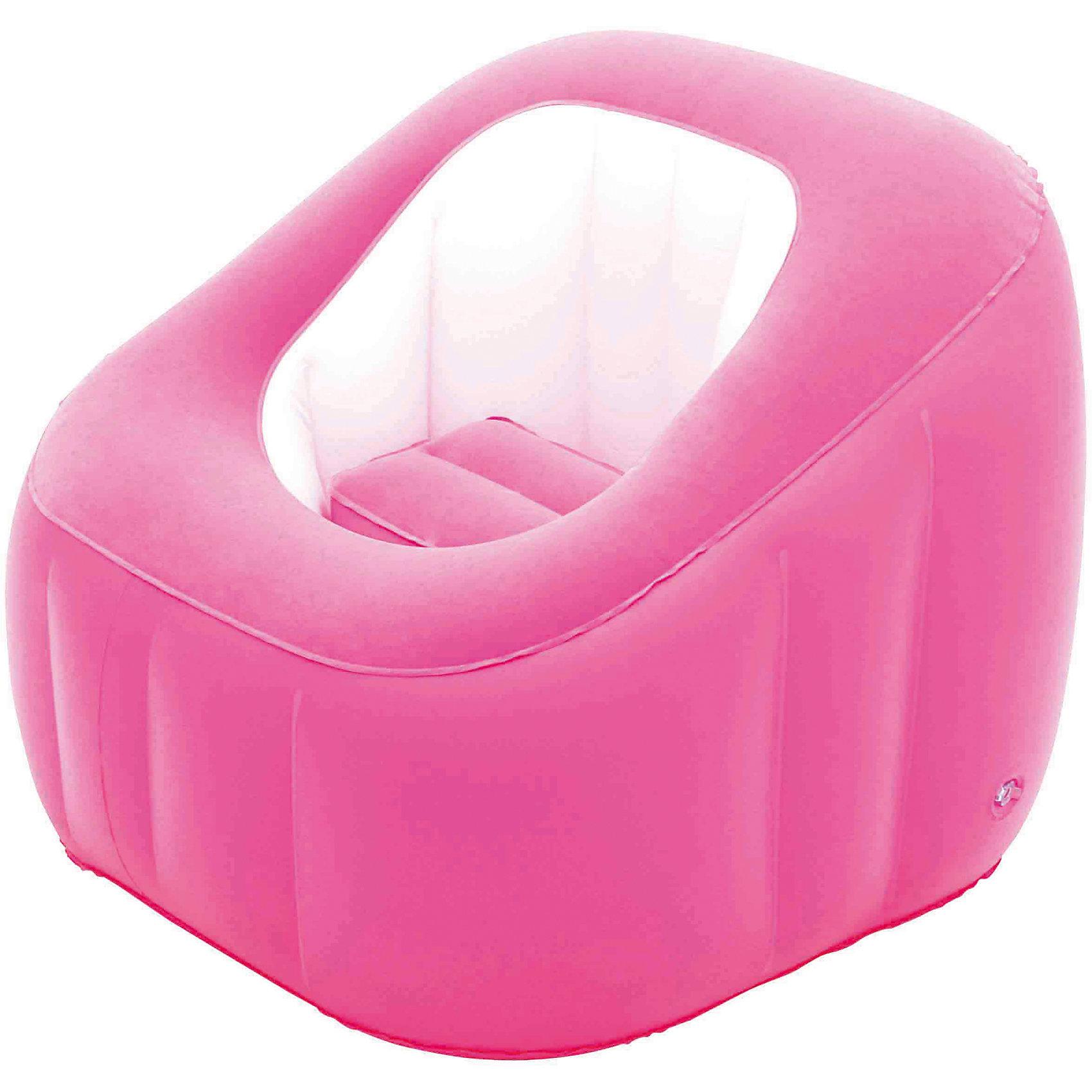 Кресло надувное, 74х74х64 см, розовое, BestwayМягкая игровая мебель<br>Кресло надувное, 74х74х64 см, розовое, Bestway (Бествей)<br><br>Характеристики:<br><br>• непромокаемый низ<br>• мягкая поверхность<br>• прочные материалы<br>• размер: 74х74х64 см<br>• заплатка в комплекте<br>• материал: ПВХ<br>• цвет: розовый<br>• размер упаковки: 29,5х30х7 см<br>• вес: 1,6 кг<br><br>Надувное кресло Bestway прекрасно впишется в интерьер комнаты и подойдет для отдыха на природе. Мягкая поверхность позволит вам расположиться с комфортом в любой обстановке. Непромокаемый низ пригодится для отдыха на свежем воздухе. Размер кресла - 74х64 сантиметра.<br><br>Кресло надувное, 74х74х64 см, розовое, Bestway (Бествей) можно купить в нашем интернет-магазине.<br><br>Ширина мм: 450<br>Глубина мм: 305<br>Высота мм: 310<br>Вес г: 1606<br>Возраст от месяцев: 72<br>Возраст до месяцев: 2147483647<br>Пол: Женский<br>Возраст: Детский<br>SKU: 5486955