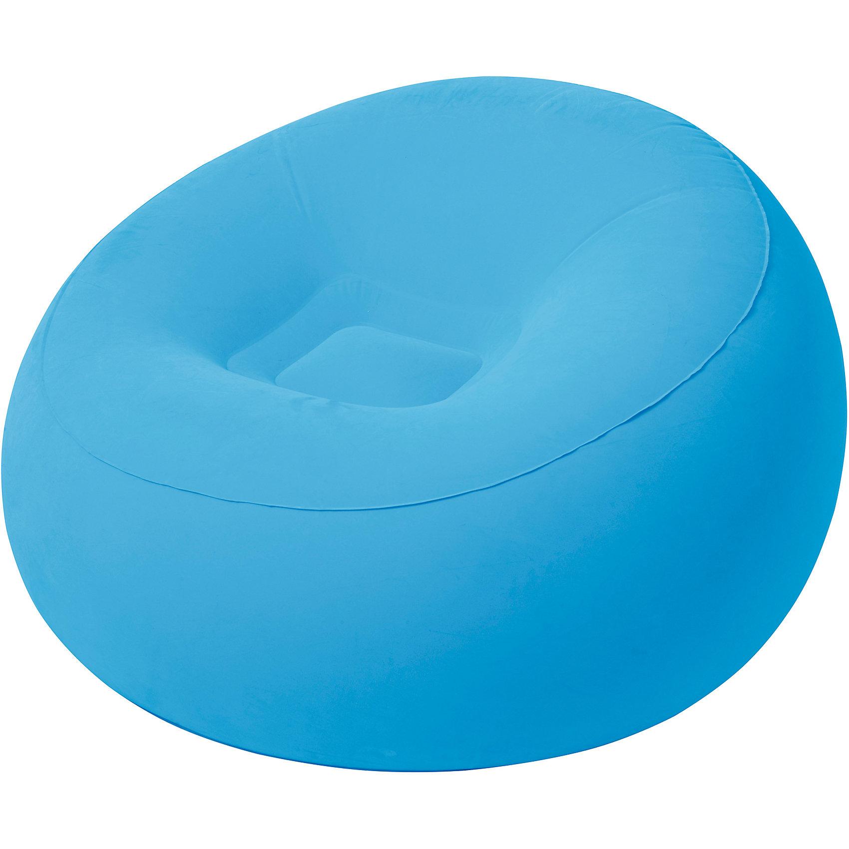Кресло надувное, 112х112х66 см, голубое, Bestway