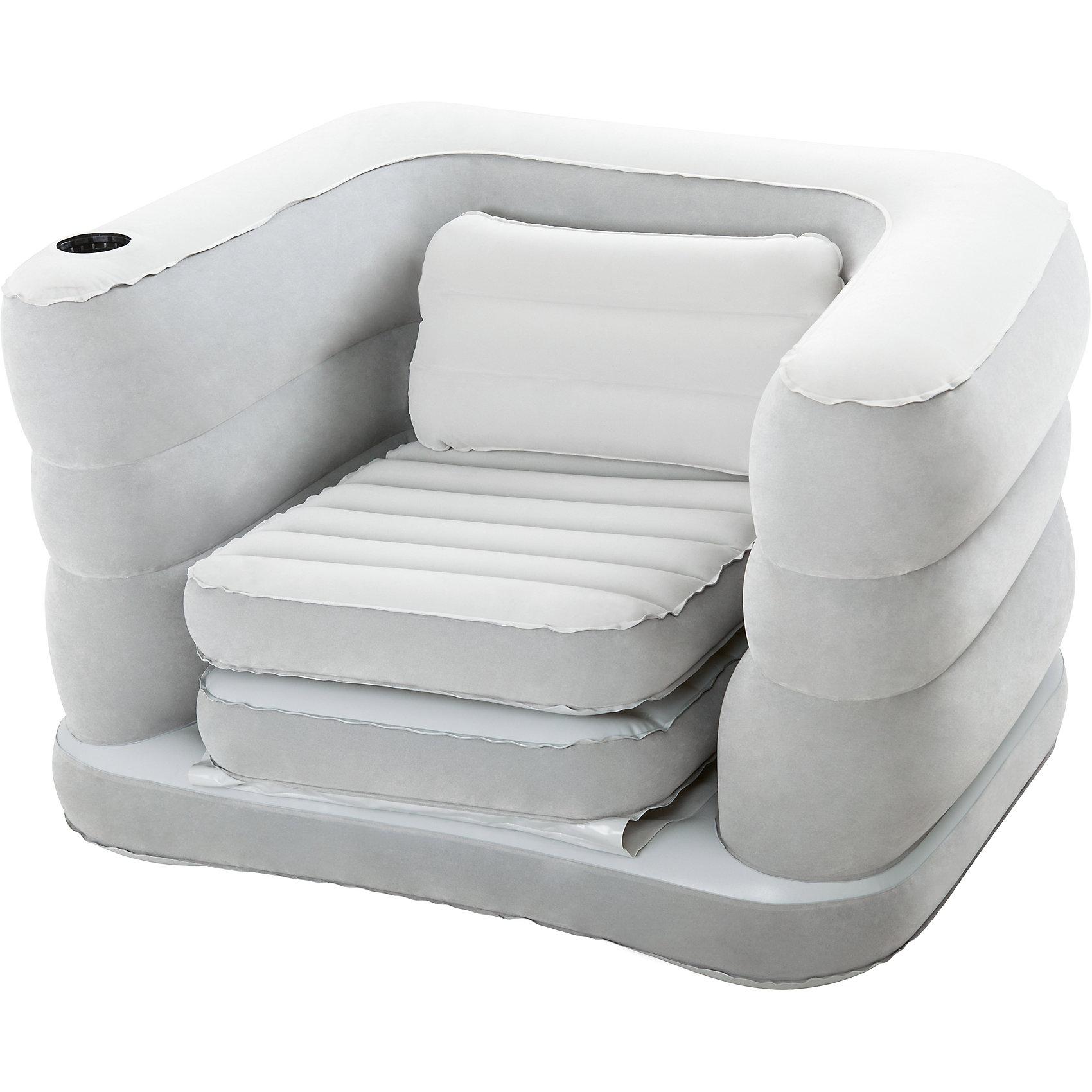 Кресло-кровать надувное, BestwayМебель<br>Кресло-кровать надувное, Bestway (Бествей)<br><br>Характеристики:<br><br>• стильное кресло легко трансформируется в кровать<br>• не деформируется под весом тела<br>• компактно в сложенном виде<br>• мягкое покрытие<br>• подходит для любых насосов<br>• размер: 200х102х64 см<br>• материал: винил<br>• вес: 4,7 кг<br><br>Кресло-кровать Bestway - универсальная надувная мебель, которая поможет вам сэкономить пространство в доме при необходимости. Кресло быстро надувается любым видом насосов и быстро трансформируется в удобную кровать. Специальная технология не позволяет внутренним перегородкам деформироваться под весом тела. Это придает креслу необходимую упругость и устойчивость. Модель выполнена из высококачественного винила с флокированным покрытием. Белье не будет соскальзывать, а приятный на ощупь материал порадует вас своей мягкостью.<br><br>Кресло-кровать надувное, Bestway (Бествей) вы можете купить в нашем интернет-магазине.<br><br>Ширина мм: 410<br>Глубина мм: 360<br>Высота мм: 410<br>Вес г: 4704<br>Возраст от месяцев: 72<br>Возраст до месяцев: 2147483647<br>Пол: Унисекс<br>Возраст: Детский<br>SKU: 5486967