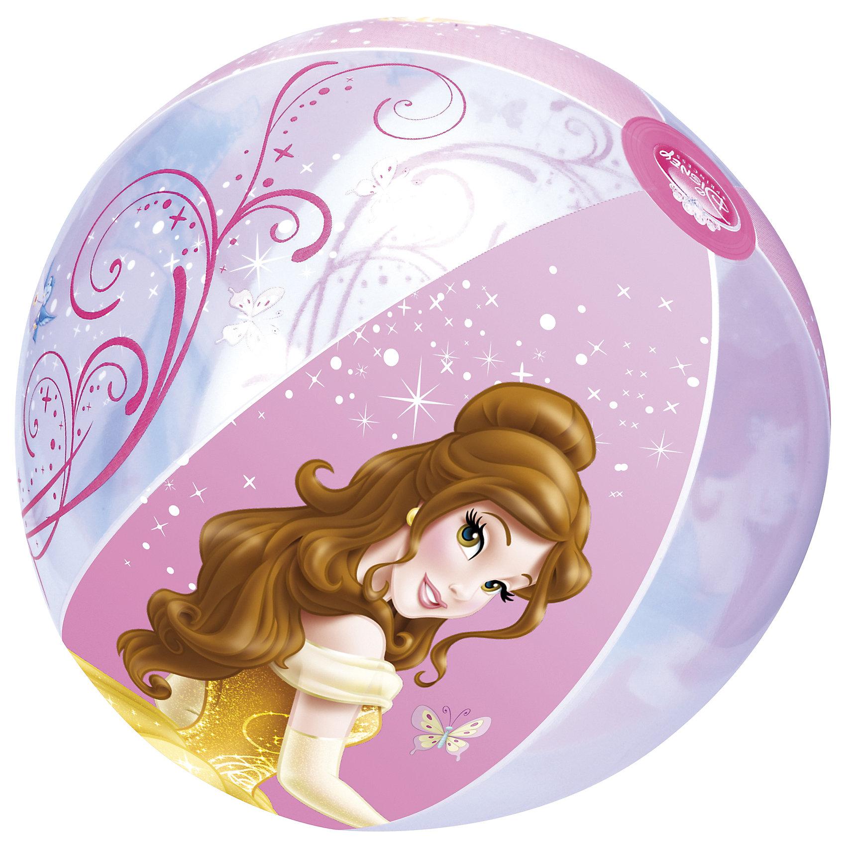 Надувной мяч, Disney Princess, 51 см, BestwayПляжные мячи<br>Надувной мяч, Disney Princess, 51 см, Bestway (Бествей)<br><br>Характеристики:<br><br>• подходит для игр в воде и на суше<br>• легкий и удобный<br>• яркий дизайн<br>• диаметр мяча: 51 см<br>• размер упаковки: 19х12х2,5 см<br>• материал: ПВХ<br>• вес: 131 грамм<br><br>С надувным мячом кроха сможет придумать самые интересные игры! Мяч подходит для использования в воде и на суше. Он изготовлен из прочного поливинилхлорида, устойчивого к воде и солнечным лучам. Поверхность мяча покрыта красочным изображением с полюбившимися героями мультфильмов Дисней. Игра с мячом поможет укрепить организм и подарит много радостных впечатлений!<br><br>Надувной мяч, Disney Princess, 51 см, Bestway (Бествей) можно купить в нашем интернет-магазине.<br><br>Ширина мм: 360<br>Глубина мм: 290<br>Высота мм: 260<br>Вес г: 131<br>Возраст от месяцев: 24<br>Возраст до месяцев: 2147483647<br>Пол: Женский<br>Возраст: Детский<br>SKU: 5486970