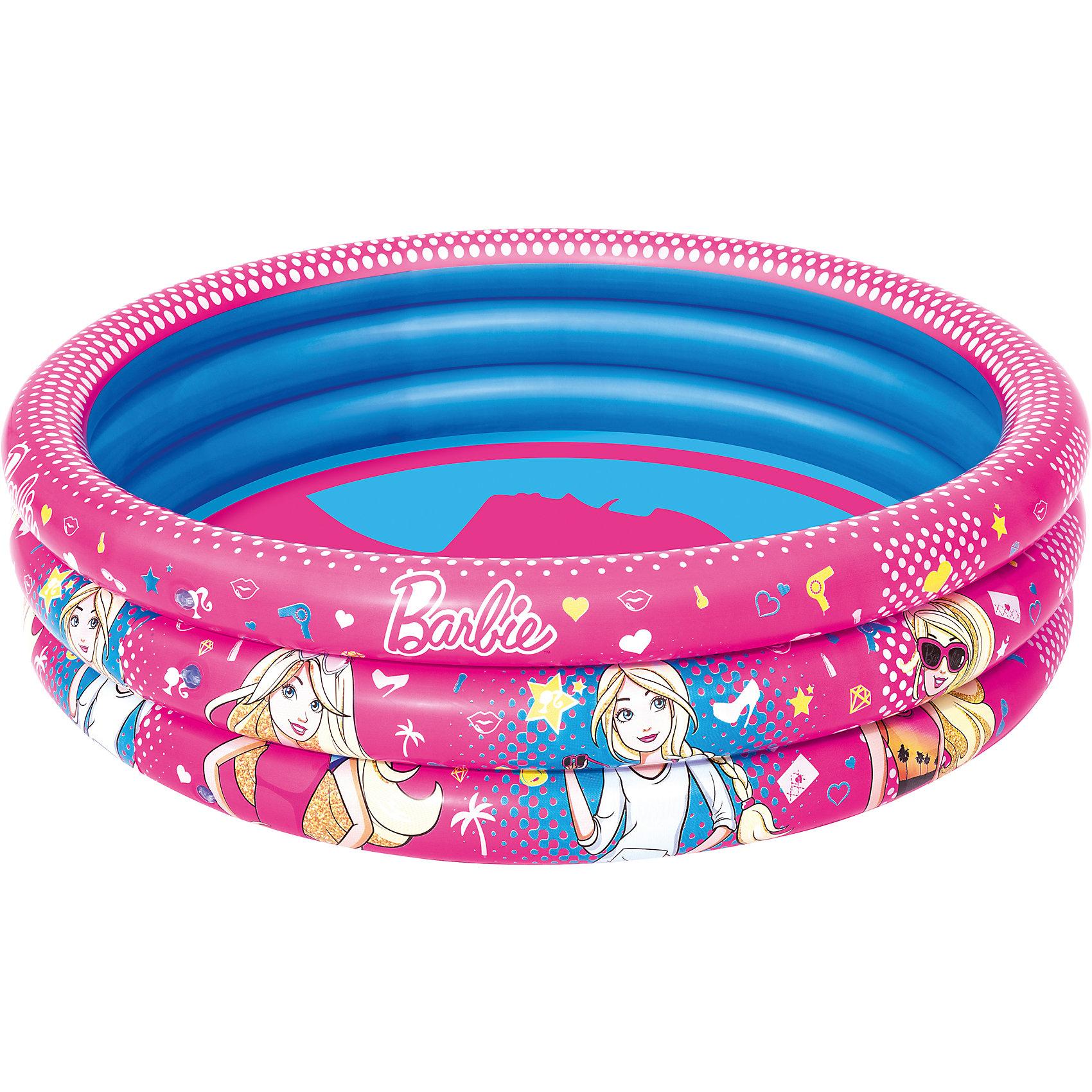 Надувной бассейн, 200 л, Barbie, BestwayБассейны<br>Надувной бассейн, 200 л, Barbie, Bestway (Бествей)<br><br>Характеристики:<br><br>• прочный и устойчивый<br>• объем: 200 литров<br>• материал: ПВХ<br>• размер: 122х30 см<br>• размер упаковки: 6х24,5х23,5 см<br>• вес: 1 кг<br><br>В надувном бассейне очень весело плескаться в жаркий день! Малыши с радостью будут играть и веселиться, а изображение любимых Барби непременно поднимет настроение. Бассейн изготовлен из прочного ПВХ. Он устойчиво стоит на гладкой поверхности. Объем бассейна - 200 литров.<br><br>Надувной бассейн, 200 л, Barbie, Bestway (Бествей) вы можете купить в нашем интернет-магазине.<br><br>Ширина мм: 480<br>Глубина мм: 350<br>Высота мм: 260<br>Вес г: 994<br>Возраст от месяцев: 24<br>Возраст до месяцев: 2147483647<br>Пол: Женский<br>Возраст: Детский<br>SKU: 5486972