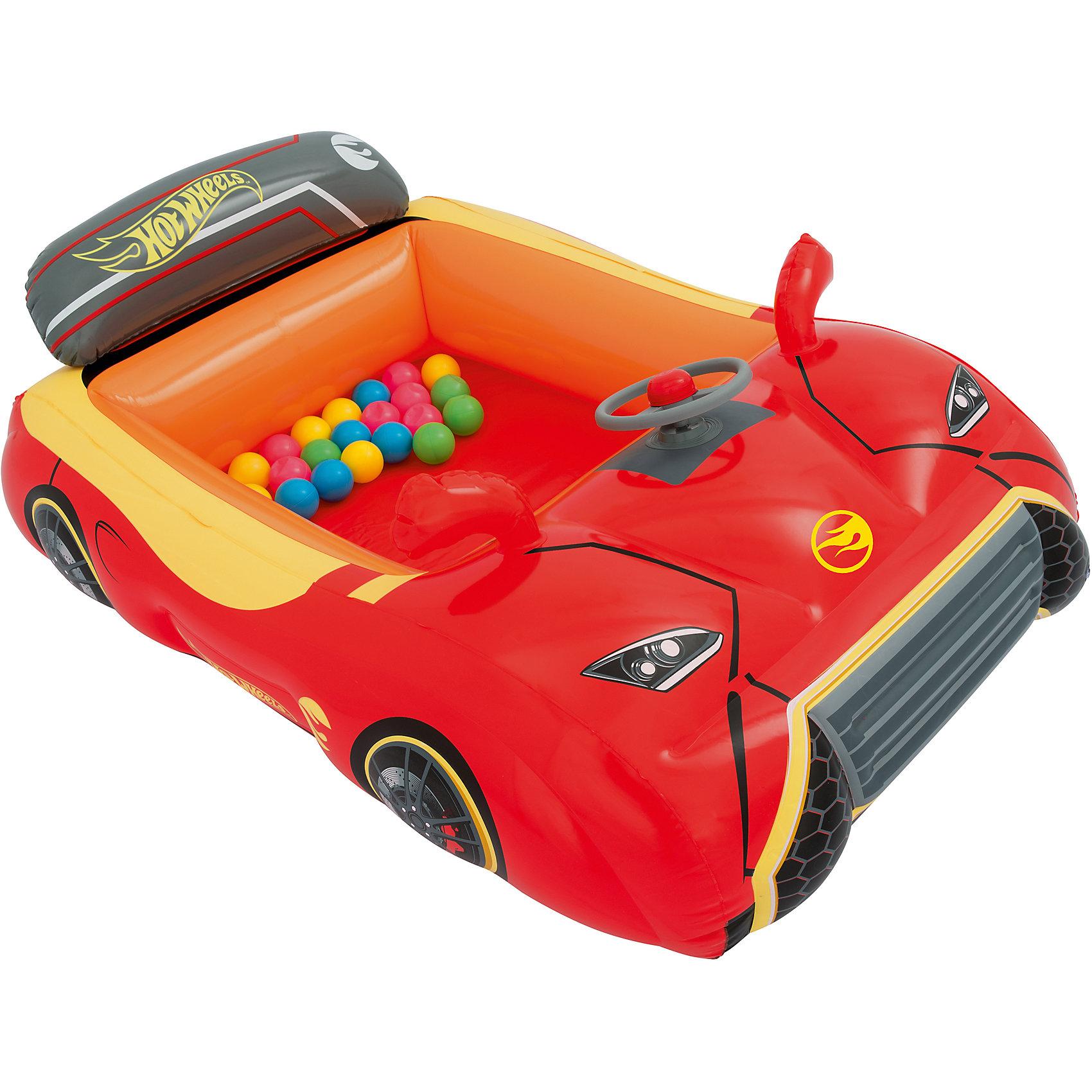 Игровой центр Машина с 25 шариками, Hot Wheels, BestwayИгровые центры<br>Игровой центр Машина с 25 шариками, Hot Wheels, Bestway (Бествей)<br><br>Характеристики:<br><br>• игровой центр в виде спортивной машины<br>• 25 разноцветных шариков в комплекте<br>• яркий дизайн в стиле Хот Вилс<br>• прочная конструкция<br>• есть предохранительные клапаны<br>• размер: 135х99х43 см<br>• вес: 2213 грамм<br><br>Яркий игровой центр позволит ребенку почувствовать себя настоящим водителем спортивной машины. Центр изготовлен из прочного поливинилхлорида. Конструкция устойчиво располагается на гладкой поверхности. Игровой центр выполнен в виде роскошного автомобиля с оформлением в стиле полюбившихся машинок Хот Вилс. В комплект входят 25 разноцветных шариков, которым кроха обязательно найдет применение.<br><br>Игровой центр Машина с 25 шариками, Hot Wheels, Bestway (Бествей) можно купить в нашем интернет-магазине.<br><br>Ширина мм: 455<br>Глубина мм: 415<br>Высота мм: 410<br>Вес г: 2213<br>Возраст от месяцев: 24<br>Возраст до месяцев: 2147483647<br>Пол: Мужской<br>Возраст: Детский<br>SKU: 5486977