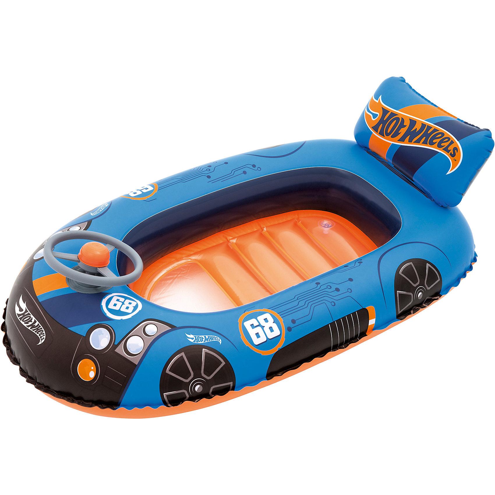 Надувная лодочка, Hot Wheels, BestwayМатрасы и лодки<br>Надувная лодочка, Hot Wheels, Bestway (Бествей)<br><br>Характеристики:<br><br>• дизайн в виде гоночной машины Хот Вилс<br>• дополнена декоративным рулем<br>• есть подушка для спины<br>• небольшое окошко на дне<br>• материал: ПВХ<br>• размер: 114х71 см<br>• вес: 627 грамм<br><br>Надувная лодочка Bestway - отличны вариант для летнего отдыха. Малыш сможет отдыхать и играть в воде рядом с родителями. Изделие выполнено из прочного поливинилхлорида. Лодочка оснащена удобной подушкой для спины и небольшим окошком на дне. Любители Хот Вилс по достоинству оценят дизайн в виде стильной гоночной машины. А для большей реалистичности лодка дополнена декоративным рулем на передней части.<br><br>Надувная лодочка, Hot Wheels, Bestway (Бествей) можно купить в нашем интернет-магазине.<br><br>Ширина мм: 480<br>Глубина мм: 320<br>Высота мм: 260<br>Вес г: 627<br>Возраст от месяцев: 48<br>Возраст до месяцев: 2147483647<br>Пол: Мужской<br>Возраст: Детский<br>SKU: 5486978