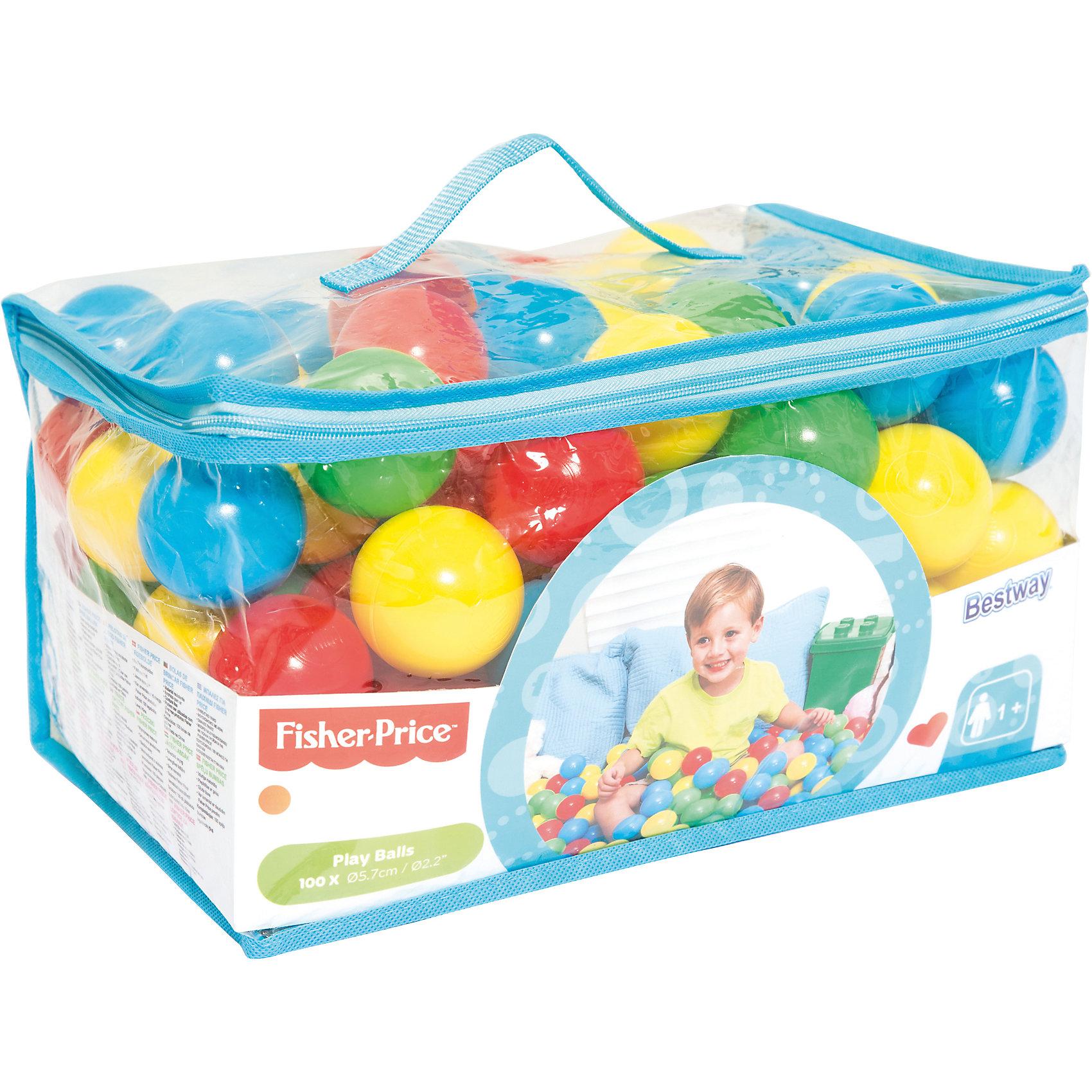 Шарики для игр 5,7 см 100 шт, Fisher Price, BestwayИгровые центры<br>Шарики для игр 5,7 см 100 шт, Fisher Price, Bestway (Бествей)<br><br>Характеристики:<br><br>• яркие разноцветные шарики для игры<br>• удобная упаковка<br>• диаметр шарика: 5,7 см<br>• количество: 100 шт<br>• вес: 694 грамма<br><br>Яркие шарики Bestway помогут разнообразить игры в бассейне. Яркие цвета шариков непременно привлекут внимание ребенка. Удобная упаковка поможет вам хранить шарики, не теряя их. Диаметр шарика - 5,7 сантиметра.<br><br>Шарики для игр 5,7 см 100 шт, Fisher Price, Bestway (Бествей) можно купить в нашем интернет-магазине.<br><br>Ширина мм: 600<br>Глубина мм: 380<br>Высота мм: 480<br>Вес г: 694<br>Возраст от месяцев: 12<br>Возраст до месяцев: 2147483647<br>Пол: Унисекс<br>Возраст: Детский<br>SKU: 5486980
