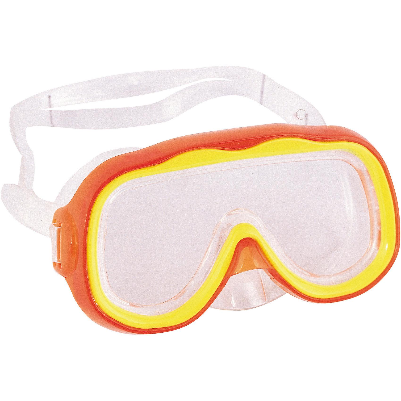 Детская маска для подводного плавания Исследователь, оранжевая, BestwayОчки, маски, ласты, шапочки<br>Детская маска для подводного плавания Исследователь, Bestway (Бествей)<br><br>Характеристики:<br><br>• надежно защищает глаза<br>• материал: ударопрочный поликарбонат<br>• уплотнитель: силикон<br>• цвет: красный<br>• вес: 92грамма<br><br>Детскую маску Исследователь можно использовать для подводного плавания и игр в воде. Маска изготовлена из ударопрочного поликарбоната с уплотнителем из силикона. Она плотно прилегает к голове, надежно защищая глаза от воды. Ремешок регулируется по окружности головы ребенка. С маской для плавания изучать подводный мир еще интереснее!<br><br>Детская маска для подводного плавания Исследователь, Bestway (Бествей) вы можете купить в нашем интернет-магазине.<br><br>Ширина мм: 430<br>Глубина мм: 365<br>Высота мм: 220<br>Вес г: 92<br>Возраст от месяцев: 36<br>Возраст до месяцев: 72<br>Пол: Унисекс<br>Возраст: Детский<br>SKU: 5486982