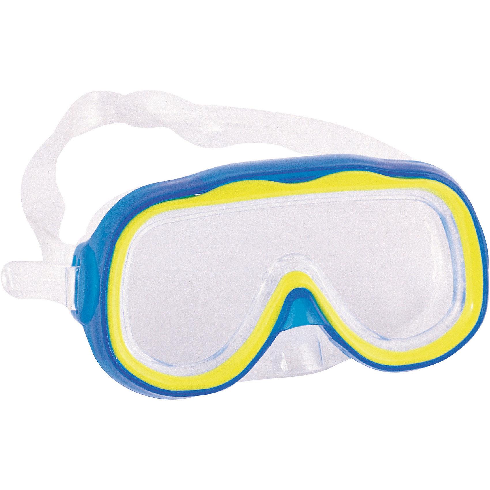 Детская маска для подводного плавания Исследователь, голубая, BestwayОчки, маски, ласты, шапочки<br>Детская маска для подводного плавания Исследователь, голубая, Bestway (Бествей)<br><br>Характеристики:<br><br>• надежно защищает глаза<br>• материал: ударопрочный поликарбонат<br>• уплотнитель: силикон<br>• цвет: голубой<br>• вес: 92грамма<br><br>Детскую маску Исследователь можно использовать для подводного плавания и игр в воде. Маска изготовлена из ударопрочного поликарбоната с уплотнителем из силикона. Она плотно прилегает к голове, надежно защищая глаза от воды. Ремешок регулируется по окружности головы ребенка. С маской для плавания изучать подводный мир еще интереснее!<br><br>Детская маска для подводного плавания Исследователь, голубая, Bestway (Бествей) вы можете купить в нашем интернет-магазине.<br><br>Ширина мм: 430<br>Глубина мм: 365<br>Высота мм: 220<br>Вес г: 92<br>Возраст от месяцев: 36<br>Возраст до месяцев: 72<br>Пол: Унисекс<br>Возраст: Детский<br>SKU: 5486984