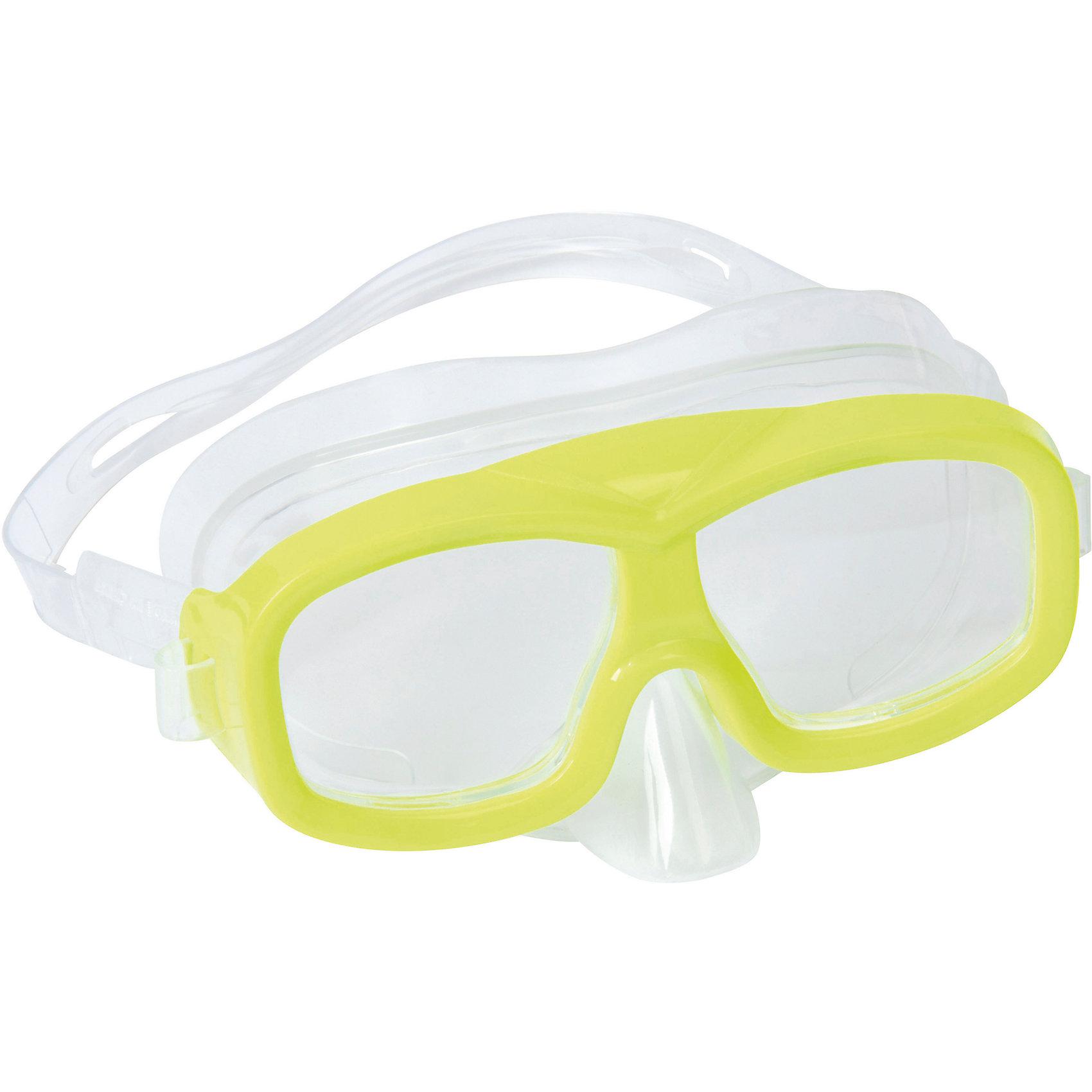 Маска для ныряния Neuwave детская, салатовая, BestwayОчки, маски, ласты, шапочки<br>Маска для ныряния Neuwave детская, салатовая, Bestway (Бествей)<br><br>Характеристики:<br><br>• надежно защищает<br>• плотно прилегает к голове<br>• не вызывает аллергии<br>• материал: пластик<br>• цвет: желтый<br>• вес: 113 грамм<br><br>Маска Neuwave надежно защитит глаза ребенка во время изучения подводного мира. Маска подходит для ныряния, игр в воде и занятий в бассейне. Она плотно прилегает к голове благодаря регулирующемуся ремешку. Изготовлена из гипоаллергенных материалов.<br><br>Маску для ныряния Neuwave детская, салатовая, Bestway (Бествей) можно купить в нашем интернет-магазине.<br><br>Ширина мм: 432<br>Глубина мм: 365<br>Высота мм: 245<br>Вес г: 113<br>Возраст от месяцев: 36<br>Возраст до месяцев: 72<br>Пол: Унисекс<br>Возраст: Детский<br>SKU: 5486985