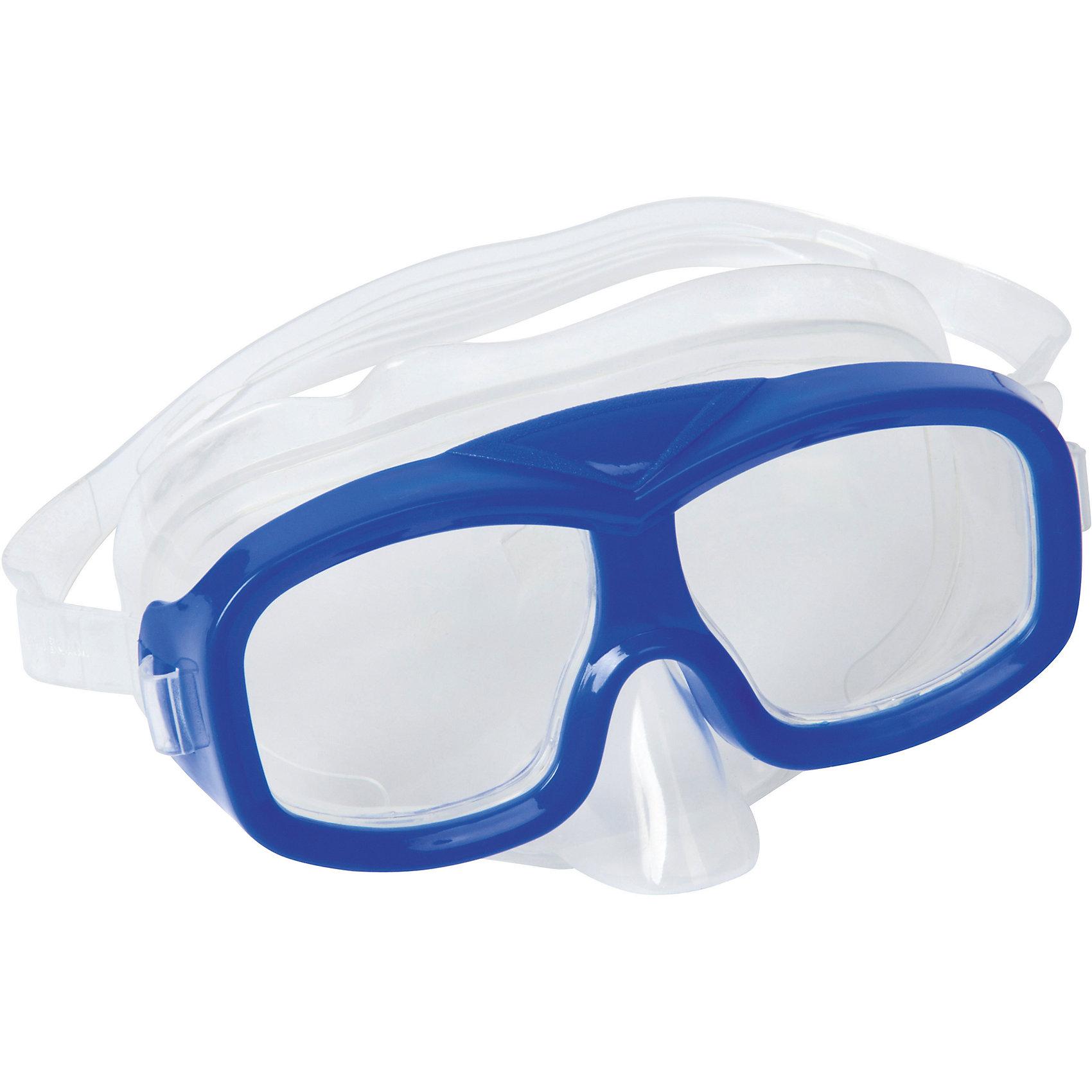 Маска для ныряния Neuwave детская, синяя, BestwayОчки, маски, ласты, шапочки<br>Маска для ныряния Neuwave детская, синяя, Bestway (Бествей)<br><br>Характеристики:<br><br>• надежно защищает<br>• плотно прилегает к голове<br>• не вызывает аллергии<br>• материал: пластик<br>• цвет: синий<br>• вес: 113 грамм<br><br>Маска Neuwave надежно защитит глаза ребенка во время изучения подводного мира. Маска подходит для ныряния, игр в воде и занятий в бассейне. Она плотно прилегает к голове благодаря регулирующемуся ремешку. Изготовлена из гипоаллергенных материалов.<br><br>Маску для ныряния Neuwave детская, синяя, Bestway (Бествей) можно купить в нашем интернет-магазине.<br><br>Ширина мм: 432<br>Глубина мм: 365<br>Высота мм: 245<br>Вес г: 113<br>Возраст от месяцев: 36<br>Возраст до месяцев: 72<br>Пол: Мужской<br>Возраст: Детский<br>SKU: 5486987