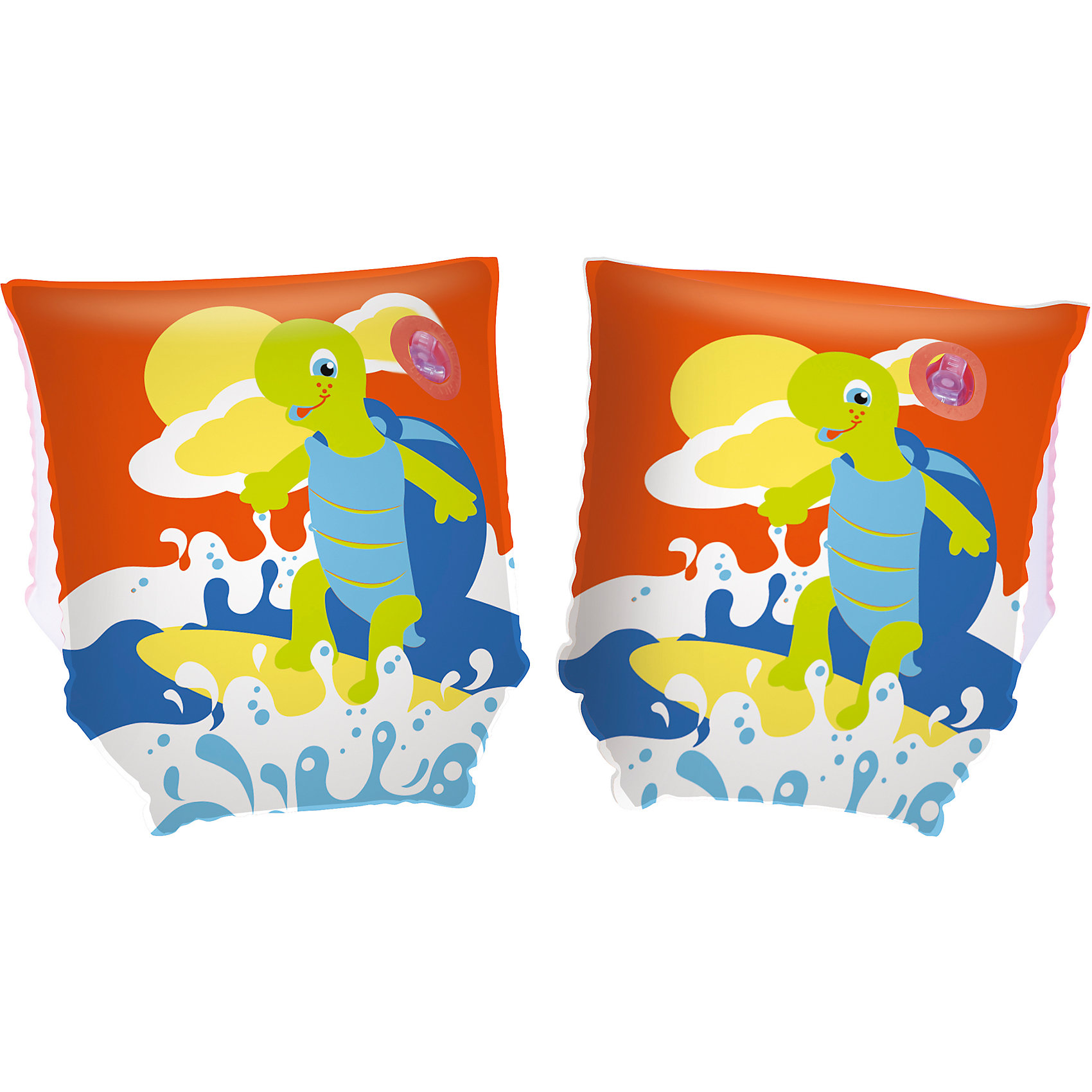 Нарукавники для плавания Черепашки, Bestway, красныеКруги и нарукавники<br>Нарукавники для плавания Черепашки, Bestway (Бествей), красные<br><br>Характеристики:<br><br>• яркий дизайн<br>• размер: 23х15<br>• материал: ПВХ<br>• вес: 86 грамм<br>• цвет: красный<br><br>Нарукавника Bestway предназначены для плавания ребенка рядом с родителями. Они обеспечат безопасность малыша во время нахождения во воде. Нарукавники выполнены из прочного ПВХ и оформлены красочным изображением веселой черепашки. Две камеры помогут вам контролировать количество воздуха. Размер нарукавников - 23х15 сантиметров.<br><br>Нарукавники для плавания Черепашки, Bestway (Бествей), красные вы можете купить в нашем интернет-магазине.<br><br>Ширина мм: 320<br>Глубина мм: 290<br>Высота мм: 180<br>Вес г: 86<br>Возраст от месяцев: 36<br>Возраст до месяцев: 72<br>Пол: Унисекс<br>Возраст: Детский<br>SKU: 5486996