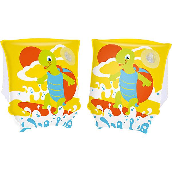 Нарукавники для плавания Черепашки, Bestway, желтые