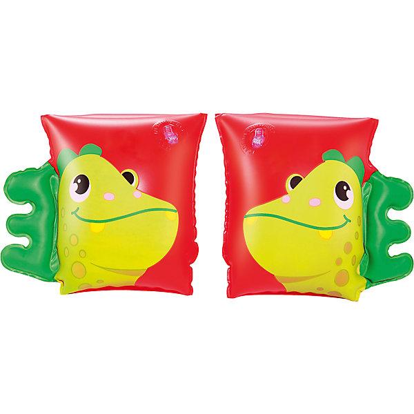 Нарукавники для плавания Динозавр, BestwayКруги и нарукавники<br>Нарукавники для плавания Динозавр (Бествей), Bestway<br><br>Характеристики:<br><br>• яркий дизайн<br>• две воздушные камеры<br>• размер: 23х15<br>• материал: ПВХ<br>• вес: 94 грамм<br><br>Нарукавники - незаменимый атрибут для детей, обучающихся плаванию. Нарукавники Динозавр выполнены из прочного пвх. Они имеют две воздушные камеры, которые позволят вам контролировать количество воздуха внутри. Нарукавники выполнены в виде забавных динозавров с гребнем. Размер нарукавника - 23х15 см.<br><br>Нарукавники для плавания Динозавр, Bestway (Бествей) можно купить в нашем интернет-магазине.<br>Ширина мм: 320; Глубина мм: 290; Высота мм: 200; Вес г: 94; Возраст от месяцев: 36; Возраст до месяцев: 72; Пол: Унисекс; Возраст: Детский; SKU: 5486998;