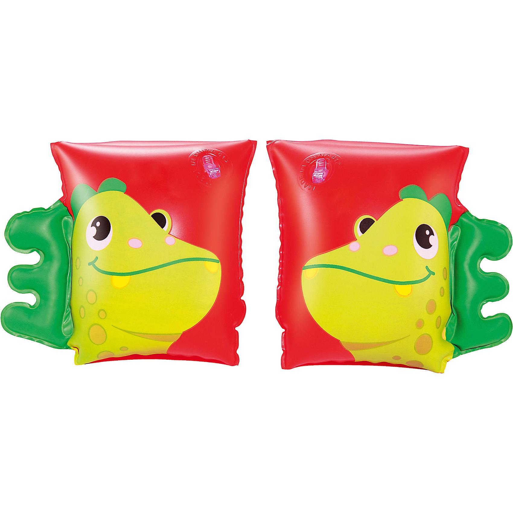 Нарукавники для плавания Динозавр, BestwayКруги и нарукавники<br>Нарукавники для плавания Динозавр (Бествей), Bestway<br><br>Характеристики:<br><br>• яркий дизайн<br>• две воздушные камеры<br>• размер: 23х15<br>• материал: ПВХ<br>• вес: 94 грамм<br><br>Нарукавники - незаменимый атрибут для детей, обучающихся плаванию. Нарукавники Динозавр выполнены из прочного пвх. Они имеют две воздушные камеры, которые позволят вам контролировать количество воздуха внутри. Нарукавники выполнены в виде забавных динозавров с гребнем. Размер нарукавника - 23х15 см.<br><br>Нарукавники для плавания Динозавр, Bestway (Бествей) можно купить в нашем интернет-магазине.<br><br>Ширина мм: 320<br>Глубина мм: 290<br>Высота мм: 200<br>Вес г: 94<br>Возраст от месяцев: 36<br>Возраст до месяцев: 72<br>Пол: Унисекс<br>Возраст: Детский<br>SKU: 5486998