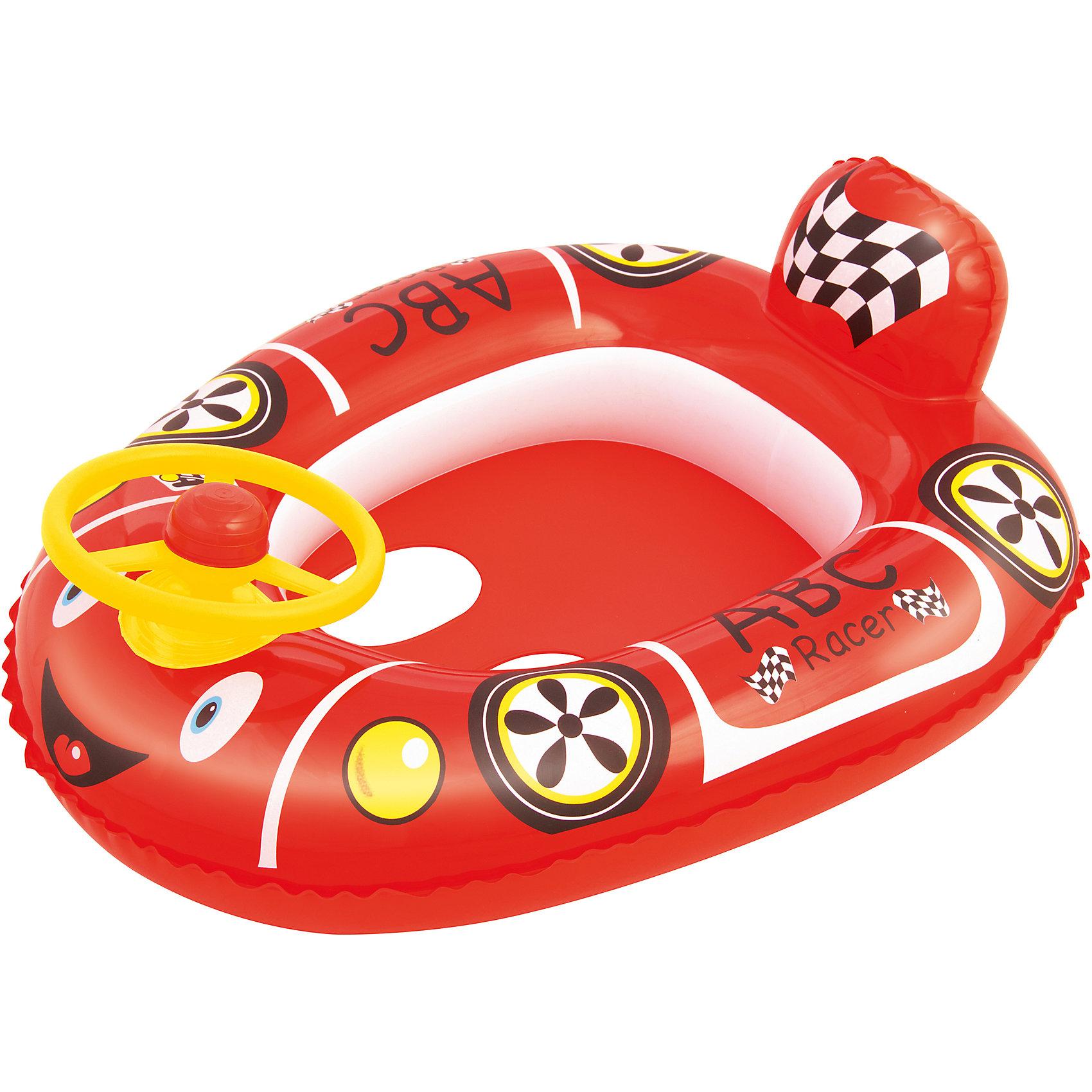 Круг для плавания с сиденьем Автомобиль, Bestway, красныйКруги и нарукавники<br>Круг для плавания с сиденьем Автомобиль, Bestway (Бествей), красный<br><br>Характеристики:<br><br>• надежный круг в виде машинки<br>• отверстия для ног<br>• руль с передней стороны<br>• материал: ПВХ<br>• размер: 71х56 см<br>• вес: 372 грамма<br>• цвет: красный<br><br>Надувной круг пригодится малышам, обучающимся плаванию. Круг обеспечит безопасность ребенка во время нахождения в воде. Он выполнен из прочного ПВХ. Привлекательный дизайн в виде машинки порадует детей и взрослых. Сзади расположен спойлер, а спереди- руль. Круг имеет отверстия для ног, чтобы ребенок мог чувствовать себя комфортно.<br><br>Круг для плавания с сиденьем Автомобиль, Bestway (Бествей),красный вы можете купить в нашем интернет-магазине.<br><br>Ширина мм: 480<br>Глубина мм: 220<br>Высота мм: 415<br>Вес г: 372<br>Возраст от месяцев: 12<br>Возраст до месяцев: 24<br>Пол: Мужской<br>Возраст: Детский<br>SKU: 5487001