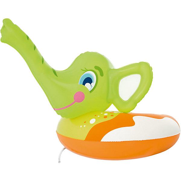 Круг для плавания Слоник с брызгалкой, Bestway, зеленыйКруги и нарукавники<br>Круг для плавания Слоник с брызгалкой, Bestway (Бествей), зеленый<br><br>Характеристики:<br><br>• оснащен освежающей брызгалкой<br>• красивый дизайн<br>• цвет: зеленый<br>• материал: ПВХ<br>• размер: 69х61 см<br>• размер упаковки: 20х5х5 см<br>• вес: 337 грамм<br><br>Плавать с кругом в виде слоника очень весело. А когда слоник начнет брызгать водой из своего хобота, ребенок точно будет в восторге! Чтобы вода поднималась по хоботу, необходимо подключить ручной насос. Игрушка выполнена из качественных, прочных материалов. Ребенок сможет плавать в воде рядом с родителями. Размер игрушки - 69х61 сантиметр.<br><br>Круг для плавания Слоник с брызгалкой, Bestway (Бествей), зеленый вы можете купить в нашем интернет-магазине.<br><br>Ширина мм: 420<br>Глубина мм: 330<br>Высота мм: 220<br>Вес г: 337<br>Возраст от месяцев: 36<br>Возраст до месяцев: 72<br>Пол: Унисекс<br>Возраст: Детский<br>SKU: 5487009
