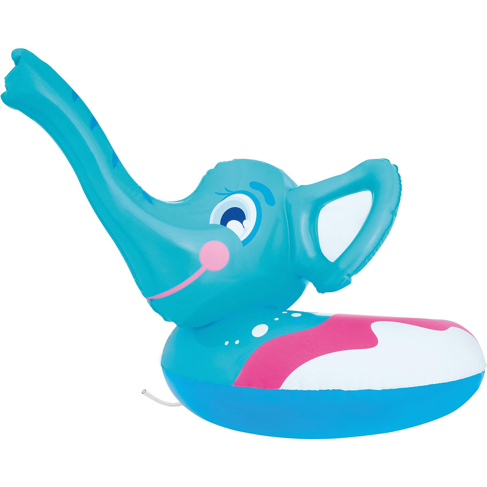 Круг для плавания Слоник с брызгалкой, Bestway, голубойКруги и нарукавники<br>Круг для плавания Слоник с брызгалкой, Bestway (Бествей), голубой<br><br>Характеристики:<br><br>• оснащен освежающей брызгалкой<br>• красивый дизайн<br>• цвет: голубой<br>• материал: ПВХ<br>• размер: 69х61 см<br>• размер упаковки: 20х5х5 см<br>• вес: 337 грамм<br><br>Плавать с кругом в виде слоника очень весело. А когда слоник начнет брызгать водой из своего хобота, ребенок точно будет в восторге! Чтобы вода поднималась по хоботу, необходимо подключить ручной насос. Игрушка выполнена из качественных, прочных материалов. Ребенок сможет плавать в воде рядом с родителями. Размер игрушки - 69х61 сантиметр.<br><br>Круг для плавания Слоник с брызгалкой, Bestway (Бествей), голубой вы можете купить в нашем интернет-магазине.<br><br>Ширина мм: 420<br>Глубина мм: 330<br>Высота мм: 220<br>Вес г: 337<br>Возраст от месяцев: 36<br>Возраст до месяцев: 72<br>Пол: Унисекс<br>Возраст: Детский<br>SKU: 5487010