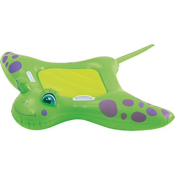 Детский надувной матрас с ручками Скат, Bestway, зеленыйМатрасы и лодки<br>Детский надувной матрас с ручками Скат, Bestway (Бествей), зеленый<br><br>Характеристики:<br><br>• удобные ручки<br>• привлекательный дизайн<br>• цвет: зеленый<br>• размер: 150х114 см<br>• размер упаковки: 4,5х23х24 см<br>• вес: 730 грамм<br><br>Надувной матрас Скат предназначен для плавания детей с родителями. Удобная форма матраса позволит ребенку комфортно расположиться, а пластиковые ручки помогут держать равновесие. Изделие изготовлено из прочных материалов, безопасных для детей. Матрас выполнен в виде веселого ската. С таким матрасом интересный и веселый отдых гарантирован!<br><br>Детский надувной матрас с ручками Скат, Bestway (Бествей), зеленый можно купить в нашем интернет-магазине.<br><br>Ширина мм: 480<br>Глубина мм: 300<br>Высота мм: 260<br>Вес г: 730<br>Возраст от месяцев: 36<br>Возраст до месяцев: 2147483647<br>Пол: Унисекс<br>Возраст: Детский<br>SKU: 5487011