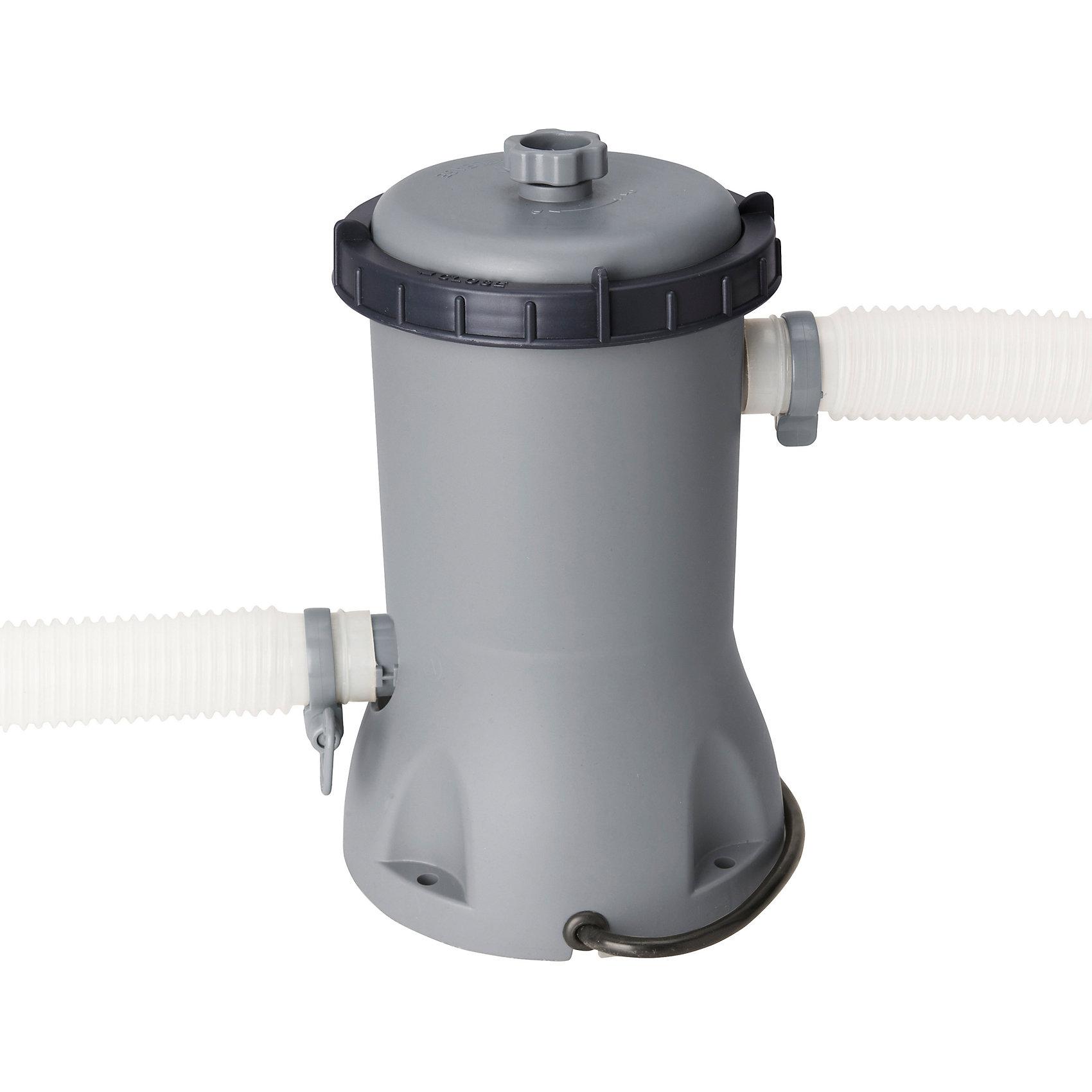 Фильтр-насос 2006 л/час, серый, BestwayНасосы и аксессуары для бассейнов<br>Фильтр-насос 2006 л/час, серый, Bestway (Бествей)<br><br>Характеристики:<br><br>• очищает воду от грязи <br>• подходит для бассейнов объемом до 8500 л<br>• производительность: 2006 л/час<br>• мощность: 46 Вт<br>• соединение: под хомут 32 и 38 мм<br>• вес: 2,5 кг<br>• цвет: серый<br><br>Фильтр-насос Bestway очистит воду в бассейне от листьев, насекомых, мусора и других загрязнений. Производительность насоса составляет 200 литров в час. Насос подходит для бассейнов объемом, не превышающим 8500 литров. <br><br>Фильтр-насос 2006 л/час, серый, Bestway (Бествей) можно купить в нашем интернет-магазине.<br><br>Ширина мм: 540<br>Глубина мм: 540<br>Высота мм: 340<br>Вес г: 2459<br>Возраст от месяцев: 36<br>Возраст до месяцев: 2147483647<br>Пол: Унисекс<br>Возраст: Детский<br>SKU: 5487026