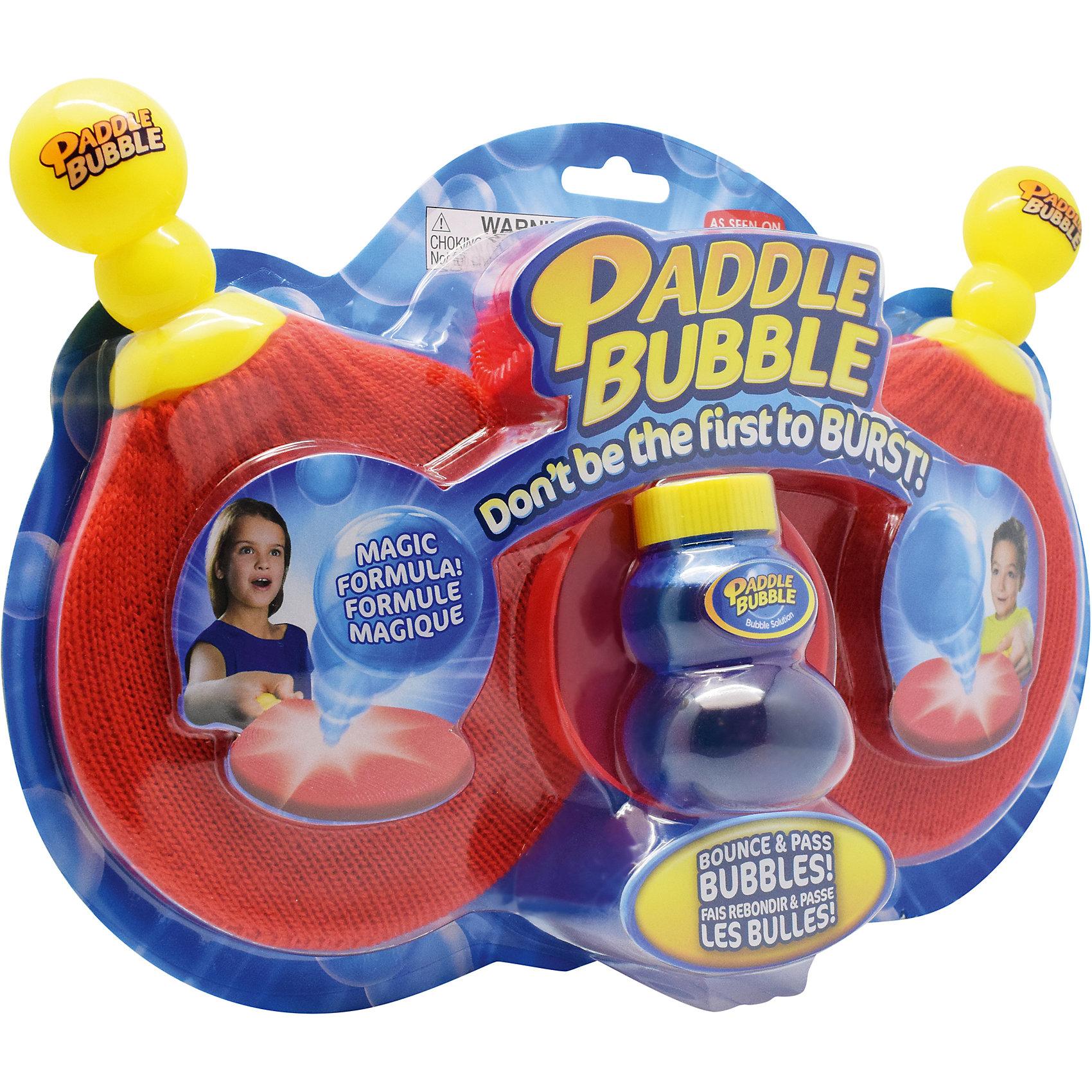 Мыльные пузыри 60 мл с набором ракеток, Paddle BubbleМыльные пузыри<br>Характеристики:<br><br>• Количество игроков: 2<br>• Материал: пластик, мыльный раствор<br>• Комплектация: 2 ракетки, лоток, трубочка для выдувания пузырей, бутылочка с раствором<br>• Размеры (Д*Ш*В): 30*20*7 см<br>• Вес: 321 г<br>• Упаковка: блистер на картонной подложке<br><br>Paddle Bubble Мыльные пузыри 60 мл с набором ракеток – это игровой набор, производителем которого является мировой бренд TPF Toys, выпускающий игры и игрушки с героями Disney. Набор состоит из двух ракеток, трубочки для выдувания пузырей, лотка и бутылочки с раствором. <br><br>Мыльный раствор имеет уникальный химический состав, который обеспечивает пузырям упругость и плотность, при этом не вызывает аллергии и раздражения при попадании на кожу. У ракеток предусмотрено специальное покрытие, при соприкосновении с которым пузыри не лопаются. Набор предназначен для подвижных игр как дома, так и на улице. <br><br>Paddle Bubble Мыльные пузыри 60 мл с набором ракеток можно купить в нашем интернет-магазине.<br><br>Ширина мм: 300<br>Глубина мм: 200<br>Высота мм: 70<br>Вес г: 321<br>Возраст от месяцев: 48<br>Возраст до месяцев: 2147483647<br>Пол: Унисекс<br>Возраст: Детский<br>SKU: 5487513