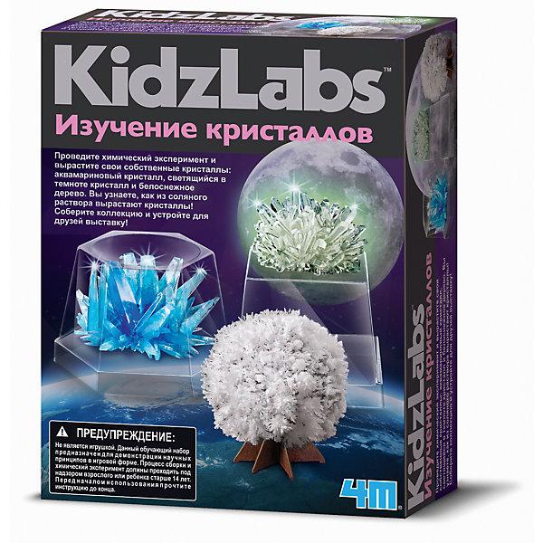 Набор Изучение КристалловВыращивание кристаллов<br>Набор Изучение Кристаллов.<br><br>Характеристика: <br><br>• Возраст: от 8 лет<br>• Материал: фосфат аммония, пластик, бумага.<br>• Размер: 6x17х21,5 см.<br>• Три кристалла (один светится в темноте). <br>• Комплектация: большой пакет с основой для кристаллов, маленький пакет с синей окрашивающей смесью, квадратный контейнер с крышкой, шестиугольный контейнер с крышкой, узкий шестиугольный контейнер с крышкой, подставка для светящегося кристалла, миска для смешивания, ложечка, комплект бумаги для белоснежного дерева.<br>• Развивает внимание, мелкую моторику, воображение.<br>• Использовать под присмотром взрослых.<br><br>С помощью этого замечательного набора ваш ребенок сможет вырастить три удивительных кристалла различных форм и цветов. В этом наборе есть все необходимое, чтобы окунуться в мир химии и почувствовать себя настоящим ученым.<br>Занятия с набором расширяют кругозор детей, развивают мышление, внимание и фантазию.<br><br>Набор Изучение Кристаллов можно купить в нашем интернет-магазине.<br>Ширина мм: 215; Глубина мм: 170; Высота мм: 60; Вес г: 304; Возраст от месяцев: 96; Возраст до месяцев: 2147483647; Пол: Унисекс; Возраст: Детский; SKU: 5487899;