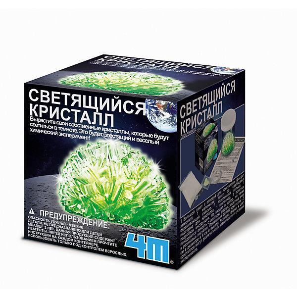 Набор Светящийся кристаллВыращивание кристаллов<br>Набор Светящийся кристалл.<br><br>Характеристика: <br><br>• Возраст: от 8 лет<br>• Материал: фосфат аммония, пластик, бумага.<br>• Размер: 9,5х9,5х9,5 см.<br>• Комплектация: основа кристалла, светящаяся окрашивающая смесь, ложка, контейнер, подставка, пластиковое кольцо.<br>• Развивает внимание, мелкую моторику, воображение.<br>• Использовать под присмотром взрослых.<br><br>С помощью этого замечательного набора дети смогут вырастить удивительный кристалл, который светится в темноте. В этом наборе уже есть все необходимое, чтобы окунуться в мир химии и почувствовать себя настоящим ученым.<br>Занятия с набором расширяют кругозор детей, развивают мышление, внимание и фантазию.<br><br>Набор Светящийся кристалл можно купить в нашем интернет-магазине.<br><br>Ширина мм: 95<br>Глубина мм: 95<br>Высота мм: 95<br>Вес г: 263<br>Возраст от месяцев: 96<br>Возраст до месяцев: 2147483647<br>Пол: Унисекс<br>Возраст: Детский<br>SKU: 5487900