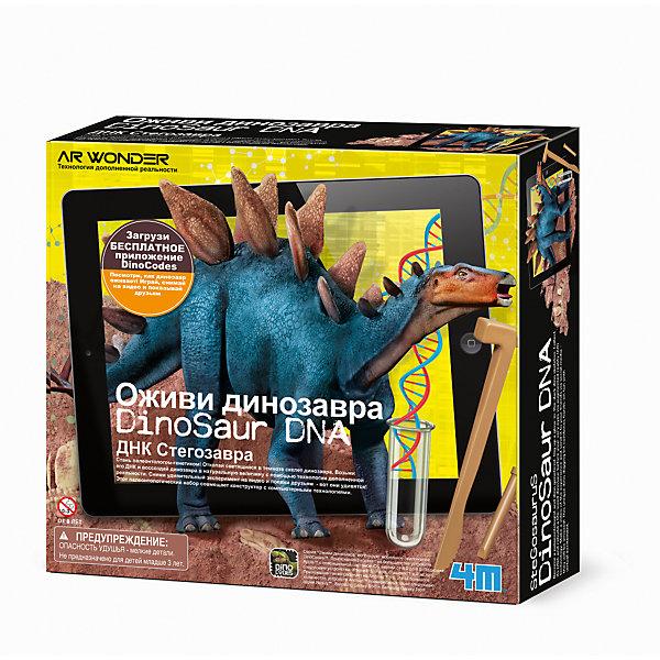 Набор Оживи динозавра. ДНК СтегозавраНаборы для раскопок<br>Набор Оживи динозавра. ДНК Стегозавра.<br><br>Характеристика: <br><br>• Возраст: от 8 лет<br>• Материал: пластик, гипс, воск. <br>• Размер: 6х24х21,5 см.<br>• Комплектация: 1 гипсовый блок, содержащий капсулу с наклейками ДНК динозавра и светящийся скелет динозавра, 1 набор специальных инструментов для раскопок, 1 кисть, 2 специальных игровых коврика для создания дополненной реальности (42?42 см), 1 кусок мягкого воска.<br>• Развивает внимание, мелкую моторику, воображение; расширяет кругозор. <br>• Для оживления динозавра требуется приложение Dino Codes. <br><br>С помощью этого замечательного набора ребенок почувствует себя настоящим ученым-палеонтологом. В наборе есть гипсовый блок, в котором содержится капсула с ДНК динозавра (наклейками) и части скелета. Собери своего стегозавра, а потом, следуя инструкции, создай видео и оживи доисторического монстра! <br>Игры с набором прекрасно развивают моторику рук, внимание, фантазию, расширяют кругозор.<br><br>Набор Оживи динозавра. ДНК Стегозавра можно купить в нашем интернет-магазине.<br>Ширина мм: 215; Глубина мм: 240; Высота мм: 60; Вес г: 1183; Возраст от месяцев: 96; Возраст до месяцев: 2147483647; Пол: Унисекс; Возраст: Детский; SKU: 5487903;
