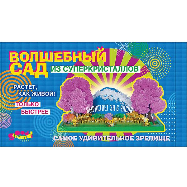 Набор Волшебный садВыращивание кристаллов<br>Набор Волшебный сад.<br><br>Характеристика: <br><br>• Возраст: от 5 лет<br>• Материал: фосфат аммония, пластик, бумага.<br>• Размер: 15х25х1,5 см.<br>• Комплектация: реактивы для выращивания кристаллов и бумажный каркас<br>• Развивает внимание, мелкую моторику, воображение; расширяет кругозор. <br>• Использовать под присмотром взрослых.<br><br>С помощью этого оригинального набора ваш ребенок сможет вырастить удивительный волшебный сад прямо на столе. Нужно лишь смочить бумажную основу реагентом и немного подождать. Восхитительные деревья из множества переливающихся кристаллов обязательно понравятся вашему юному ученому. <br>Занятия с набором расширяют кругозор детей, развивают мышление, внимание и фантазию.<br><br>Набор Волшебный сад можно купить в нашем интернет-магазине.<br><br>Ширина мм: 150<br>Глубина мм: 250<br>Высота мм: 15<br>Вес г: 182<br>Возраст от месяцев: 60<br>Возраст до месяцев: 2147483647<br>Пол: Унисекс<br>Возраст: Детский<br>SKU: 5487908