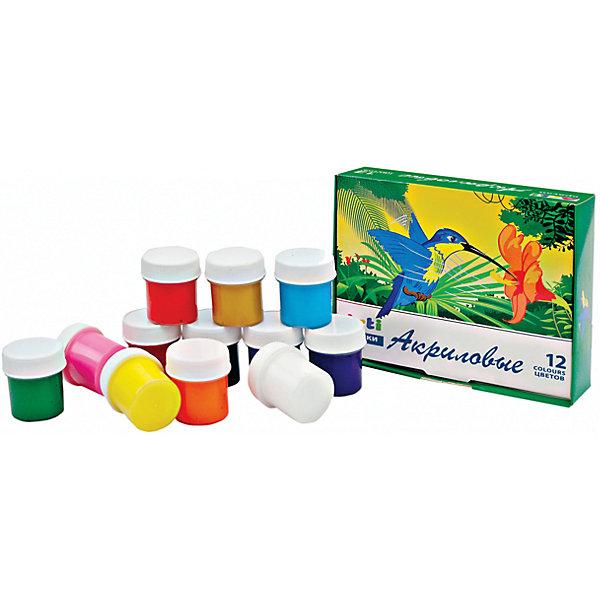 Набор для творчества,12 цветов, 240 мл.Наборы для рисования<br>Набор для творчества,12 цветов, 240 мл.<br><br>Характеристика: <br><br>• Материал: краски. <br>• Размер упаковки: 3х12,5х9,5 см.<br>• 12 цветов: белый, красный, розовый, оранжевый, желтый, охра, зеленый, голубой, синий, фиолетовый, коричневый, черный. <br>• Объем 1 баночки с краской: 20 мл.<br>• Подходят для рисования по бумаге, стеклу, глине, дереву, металлу.<br>• Яркие насыщенные цвета.<br>• Не выгорают при воздействии солнечных лучей.<br>• Изготовлены из высококачественных нетоксичных материалов безопасных для детей. <br><br>Рисование прекрасный вид творческой деятельности, без которого невозможно гармоничное развитие ребенка. А чтобы процесс создания шедевра был легким и увлекательным, нужно подобрать правильные краски. Акриловые краски Arti (Арти) имеют насыщенный цвета, легко смешиваются между собой, быстро сохнут, хорошо смываются с рук. Краски изготовлены из высококачественных нетоксичных материалов безопасных для детей. <br><br>Набор для творчества,12 цветов, 240 мл., можно купить в нашем интернет-магазине.<br>Ширина мм: 40; Глубина мм: 150; Высота мм: 110; Вес г: 465; Возраст от месяцев: 36; Возраст до месяцев: 2147483647; Пол: Унисекс; Возраст: Детский; SKU: 5487930;