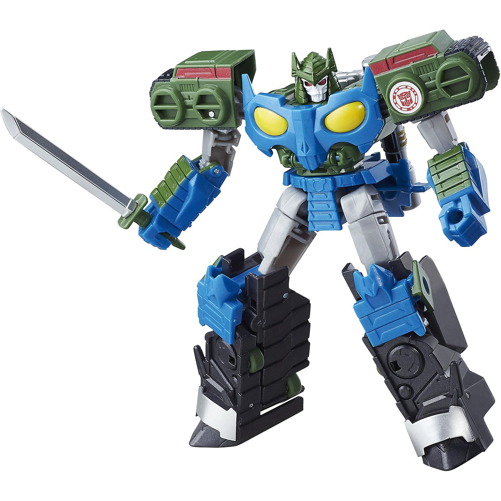 Роботс-ин-Дисгайс Войны, Трансформеры, B0070/C0930Трансформеры-игрушки<br>Характеристики:<br><br>• Материал: пластик<br>• Комплектация: робот-трансформер, аксессуары<br>• Высота робота ?13 см<br>• Трансформируется в оружие за 13 шагов<br>• На игрушке имеется сканируемый жетон<br>• Вес в упаковке: 290 г<br>• Размеры упаковки (Г*Ш*В): 6,4*16,5*25,4 см<br>• Упаковка: блистер на картонной подложке<br><br>Роботс-ин-Дисгайс Войны, Трансформеры, это коллекция трансформеров-роботов, созданных по мотивам популярного мультсериала Трансформеры. Роботам этой коллекции предстоит опасная миссия: поймать всех опасных преступников, сбежавших с корабля-тюрьмы под названием Алкемор. Чтобы миссия была успешной роботы трансформируются в высокотехнологичное оружие или транспортные средства. <br><br>Фигурки героев выполнены из твердого пластика, устойчивого к повреждениям и трещинам, детали окрашены нетоксичной краской без запаха. Робот выполнен с высокой степенью достоверности и соответствия облику своего экранного прототипа.  <br><br>Роботс-ин-Дисгайс Войны, Трансформеры, B0070/C0930 можно купить в нашем интернет-магазине.<br><br>Ширина мм: 64<br>Глубина мм: 165<br>Высота мм: 254<br>Вес г: 290<br>Возраст от месяцев: 48<br>Возраст до месяцев: 2147483647<br>Пол: Мужской<br>Возраст: Детский<br>SKU: 5488312
