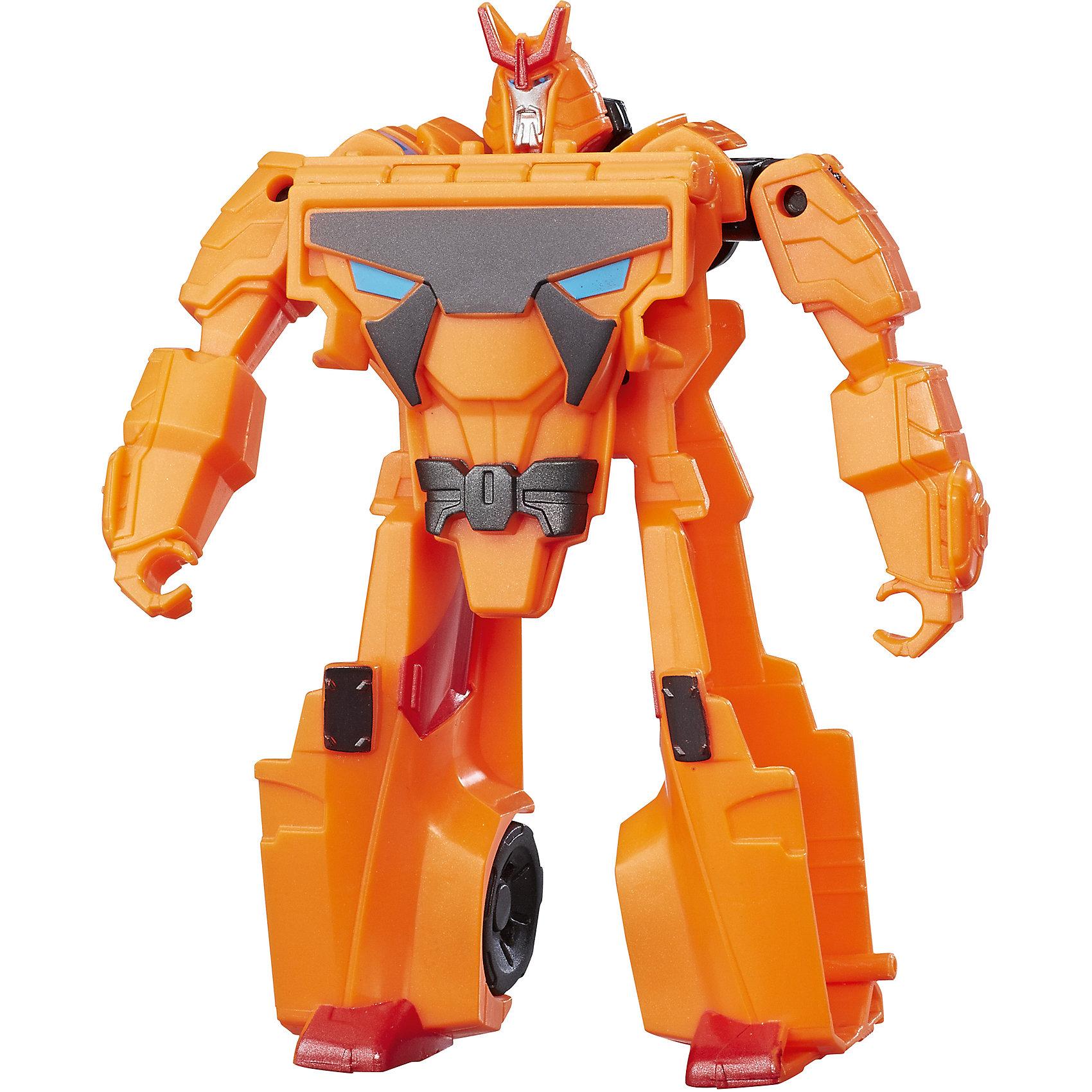 Трансформеры Роботс-ин-Дисгайс Уан-Стэп, B0068/C0647Любимые герои<br>Характеристики:<br><br>• Материал: пластик<br>• Комплектация: робот-трансформер, аксессуары<br>• Высота робота ?11 см<br>• Трансформируется в гоночную машину за 1 шаг<br>• На игрушке имеется сканируемый жетон<br>• Вес в упаковке: 97 г<br>• Размеры упаковки (Г*Ш*В): 17,6*15,2*4,8 см<br>• Упаковка: блистер на картонной подложке<br><br>Роботы этой коллекции за один шаг трансформируются в гоночные автомобили с инерционным механизмом. Фигурки героев выполнены из твердого пластика, устойчивого к повреждениям и трещинам, детали окрашены нетоксичной краской без запаха. Робот выполнен с высокой степенью достоверности и соответствия облику своего экранного прототипа.<br><br>Трансформеры Роботс-ин-Дисгайс Уан-Стэп, B0068/C0647 можно купить в нашем интернет-магазине.<br><br>Ширина мм: 176<br>Глубина мм: 152<br>Высота мм: 48<br>Вес г: 97<br>Возраст от месяцев: 48<br>Возраст до месяцев: 2147483647<br>Пол: Мужской<br>Возраст: Детский<br>SKU: 5488318