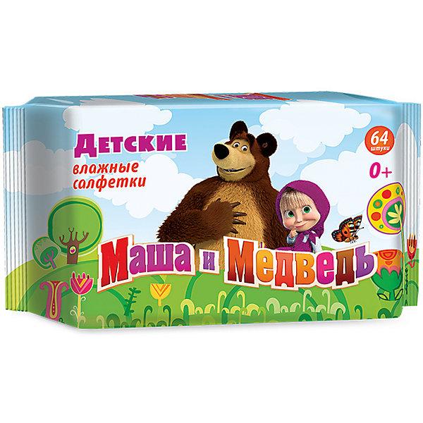Влажные салфетки Маша и медведь детские 64шт., АвангардВлажные салфетки<br>Характеристики:<br><br>• Коллекция: Маша и медведь<br>• Материал: нетканый материал, лосьон<br>• Количество в упаковке: 64 штуки<br>• Не содержат спирта<br>• Яркая герметичная упаковка с клапаном<br>• В состав пропитки входит экстракт ромашки и аллантоин<br>• Вес: 300 г<br>• Размеры (Д*Ш*В): 20*4*9 см<br><br>Материал является гипоаллергенным, не раздражает нежную детскую кожу, длительное время удерживает влагу, благодаря чему салфетки сохраняют свои свойства. При использовании не изменяют pH уровень кожи. Салфетки имеют экономичную упаковку с клапаном, который обеспечивает герметичность и защищает от пересыхания. В состав пропитки входит аллантоин и экстракт ромашки, поэтому эти салфетки можно использовать для обработки поверхностных ран и ссадин.<br><br>Влажные салфетки Маша и медведь детские 64 шт., Авангард можно купить в нашем интернет-магазине.<br>Ширина мм: 90; Глубина мм: 200; Высота мм: 40; Вес г: 300; Возраст от месяцев: 0; Возраст до месяцев: 84; Пол: Унисекс; Возраст: Детский; SKU: 5489918;