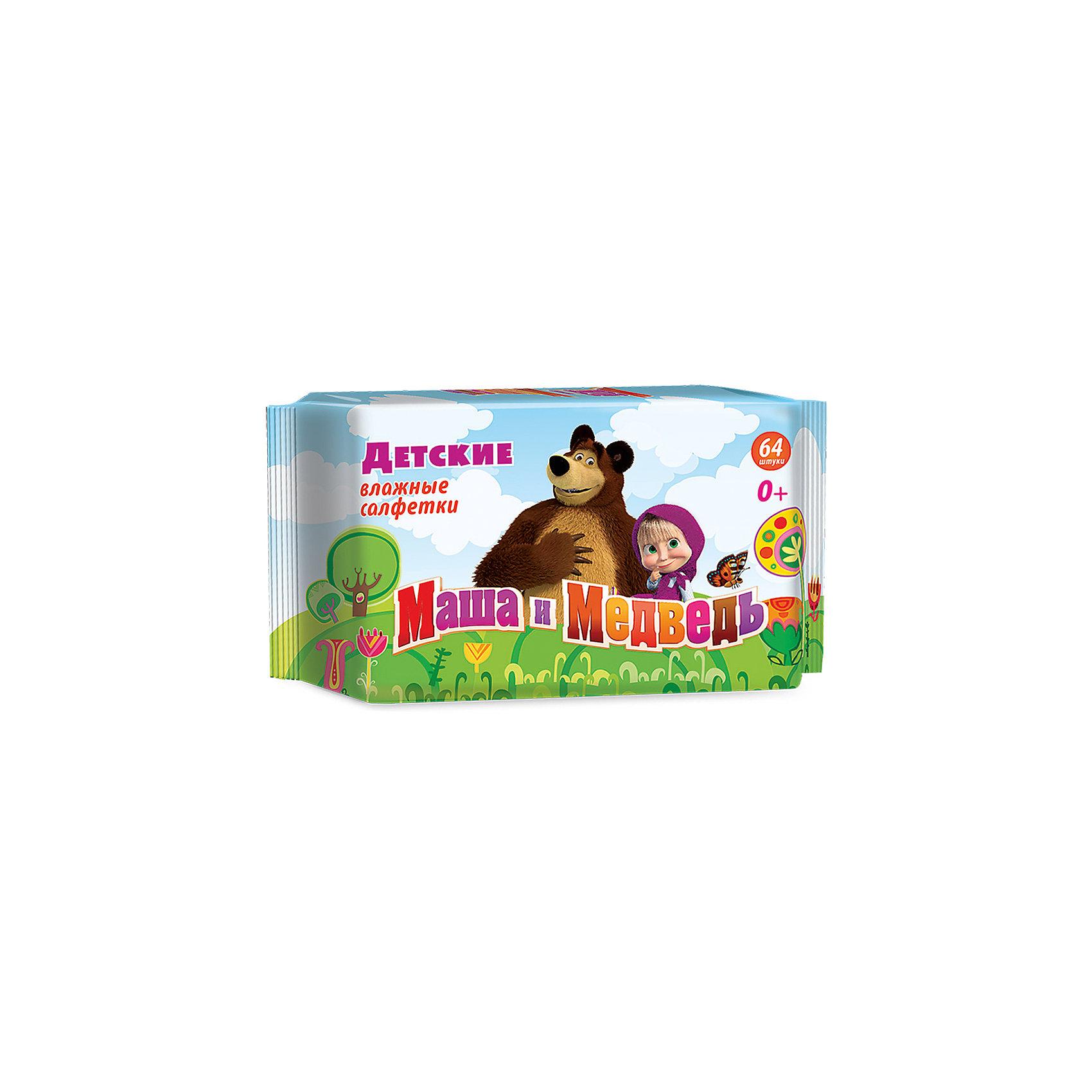 Влажные салфетки Маша и медведь детские 64шт., АвангардВлажные салфетки<br>Характеристики:<br><br>• Коллекция: Маша и медведь<br>• Материал: нетканый материал, лосьон<br>• Количество в упаковке: 64 штуки<br>• Не содержат спирта<br>• Яркая герметичная упаковка с клапаном<br>• В состав пропитки входит экстракт ромашки и аллантоин<br>• Вес: 300 г<br>• Размеры (Д*Ш*В): 20*4*9 см<br><br>Материал является гипоаллергенным, не раздражает нежную детскую кожу, длительное время удерживает влагу, благодаря чему салфетки сохраняют свои свойства. При использовании не изменяют pH уровень кожи. Салфетки имеют экономичную упаковку с клапаном, который обеспечивает герметичность и защищает от пересыхания. В состав пропитки входит аллантоин и экстракт ромашки, поэтому эти салфетки можно использовать для обработки поверхностных ран и ссадин.<br><br>Влажные салфетки Маша и медведь детские 64 шт., Авангард можно купить в нашем интернет-магазине.<br><br>Ширина мм: 90<br>Глубина мм: 200<br>Высота мм: 40<br>Вес г: 300<br>Возраст от месяцев: 0<br>Возраст до месяцев: 84<br>Пол: Унисекс<br>Возраст: Детский<br>SKU: 5489918