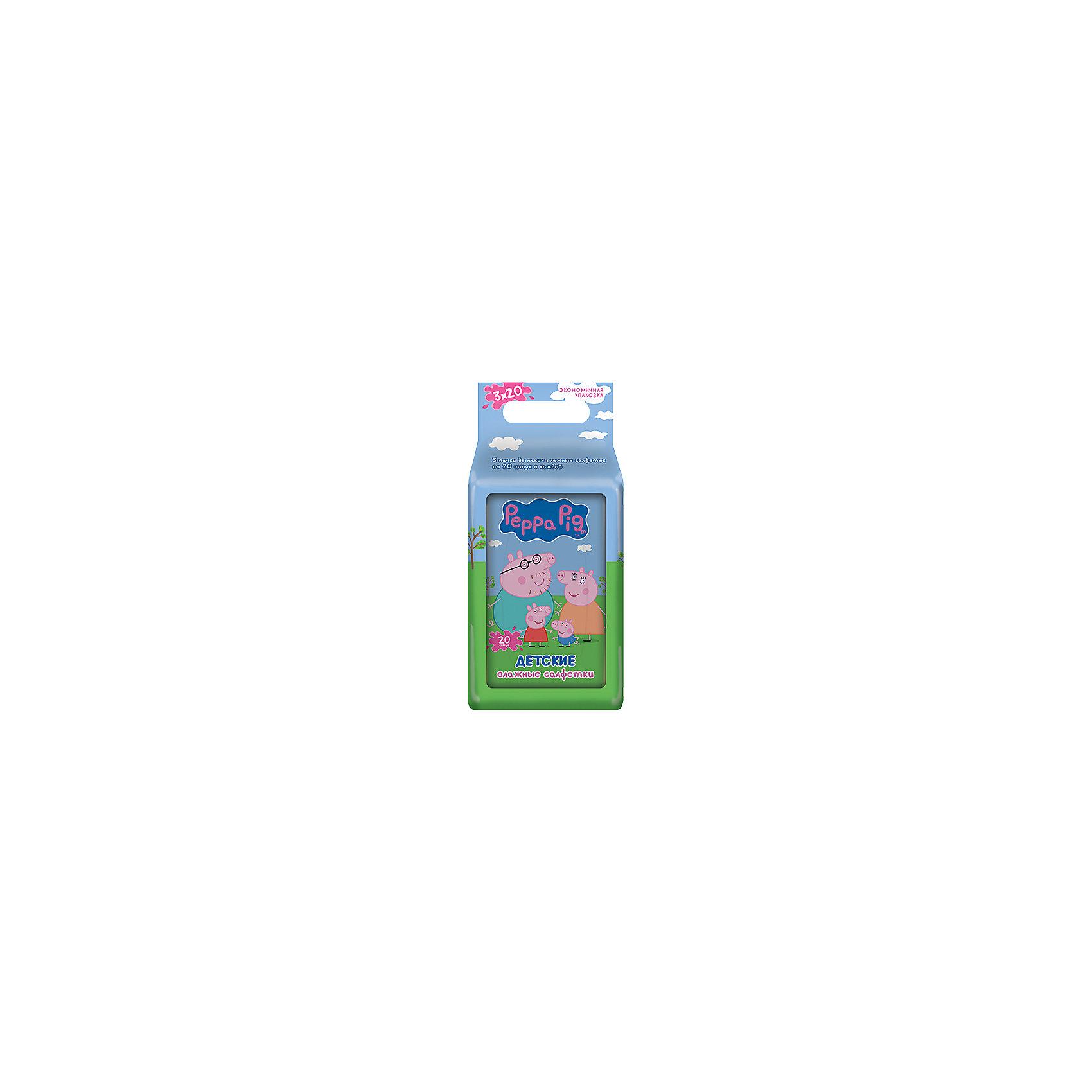 Детские влажные салфетки Peppa pig №20*3 Триопак, АвангардВлажные салфетки<br>Характеристики:<br><br>• Коллекция: Свинка Пеппа<br>• Материал: нетканый материал, лосьон<br>• Количество в упаковке: 60 штук<br>• Не содержат спирта<br>• Яркая герметичная упаковка с клапаном<br>• В состав пропитки входит отдушка Bubble Gum<br>• Вес: 300 г<br>• Размеры (Д*Ш*В): 8*15*6 см<br><br>Материал является гипоаллергенным, не раздражает нежную детскую кожу, длительное время удерживает влагу, благодаря чему салфетки сохраняют свои свойства. При использовании не изменяют pH уровень кожи. Салфетки имеют компактную упаковку с клапаном, который обеспечивает герметичность и защищает от пересыхания. Уникальный состав пропитки, в состав которой входит отдушка Bubble Gum, позволяет легко и быстро очистить и освежить кожу. <br><br>Детские влажные салфетки Peppa pig №20*3 Триопак, Авангард можно купить в нашем интернет-магазине.<br><br>Ширина мм: 80<br>Глубина мм: 150<br>Высота мм: 60<br>Вес г: 300<br>Возраст от месяцев: 0<br>Возраст до месяцев: 84<br>Пол: Унисекс<br>Возраст: Детский<br>SKU: 5489921