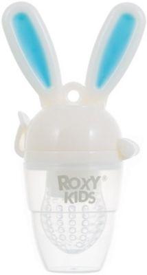 Ниблер для прикорма малышей Bunny Twist, Roxy-Kids, голубой