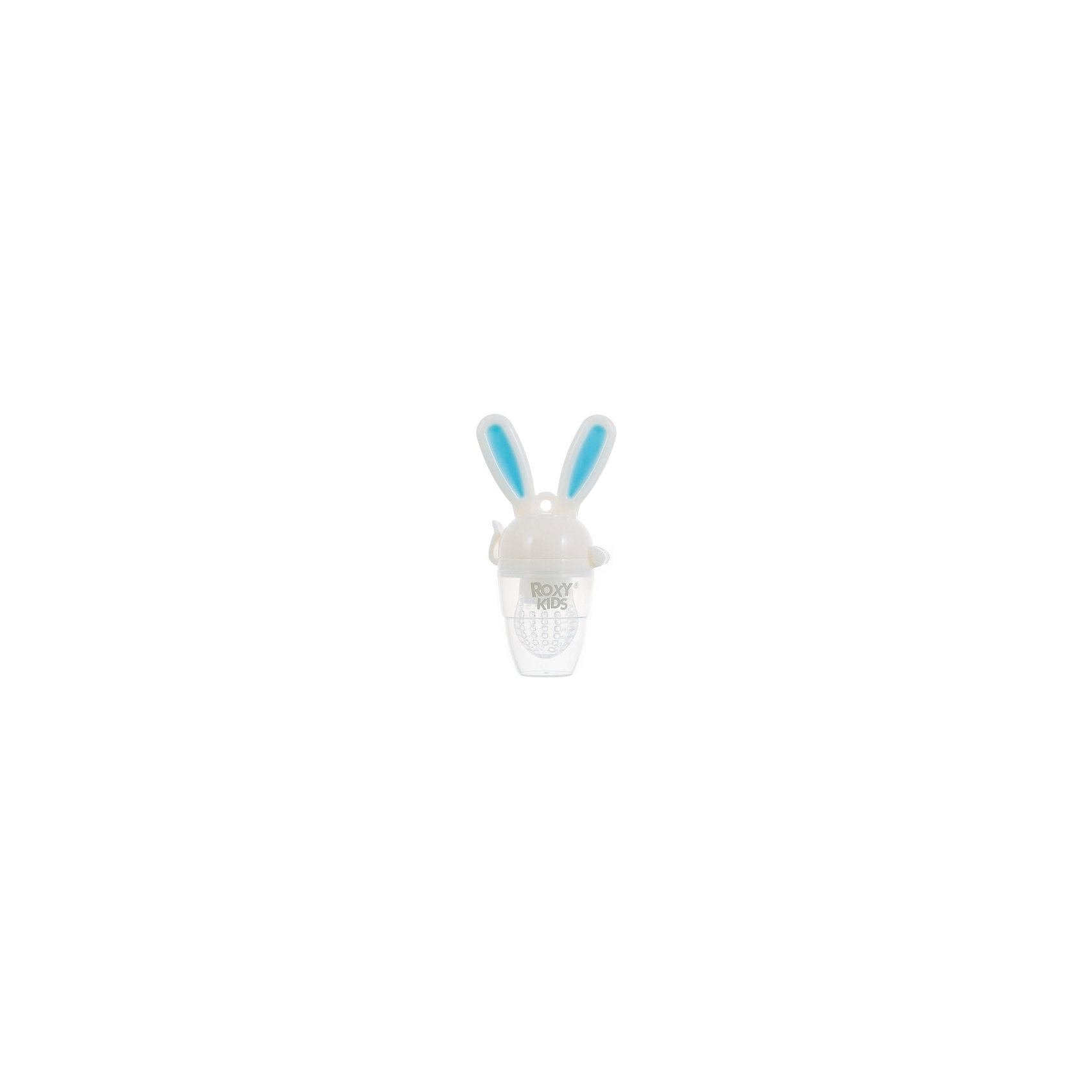 Ниблер для прикорма малышей Bunny Twist, Roxy-Kids, голубойХиты продаж<br>Характеристики:<br><br>• Предназначение: для введения прикорма<br>• Пол: для мальчика<br>• Цвет: белый,голубой<br>• Материал: полипропилен, силикон<br>• Комплектация: ручка-держатель, сетка, защитный колпачок<br>• Эргономичные ручки в виде ушек зайца<br>• Съемная силиконовая сеточка<br>• Наличие поршня для проталкивания пищи<br>• Вес: 150 г<br>• Размеры (Д*Ш*В): 21*13*7 см<br>• Особенности ухода: разрешается стерилизация<br><br>Ниблер для прикорма малышей Bunny Twist, Roxy-Kids, голубой предназначен для введения первого прикорма малыша. Его конструкция продумана до мелочей: удобные эргономичные ручки в виде ушек зайца, силиконовая сеточка и колпачок, который защищает сеточку от загрязнений. В конструкции предусмотрен поршень, который позволяет проталкивать пищу. Корпус ниблера и колпачок изготовлены из безопасных материалов: полипропилена, который не имеет запаха и обладает прочностью к появлению сколов и царапин. Сеточка изготовлена из мягкого силикона, который не искажает вкус и запах пищи. Сеточка обладает повышенной прочностью и гигиеническими качествами. Она легко отмывается от остатков пищи.<br><br>Ниблер для прикорма малышей Bunny Twist, Roxy-Kids, голубой можно купить в нашем интернет-магазине.<br><br>Ширина мм: 210<br>Глубина мм: 130<br>Высота мм: 70<br>Вес г: 150<br>Возраст от месяцев: 4<br>Возраст до месяцев: 18<br>Пол: Мужской<br>Возраст: Детский<br>SKU: 5489938