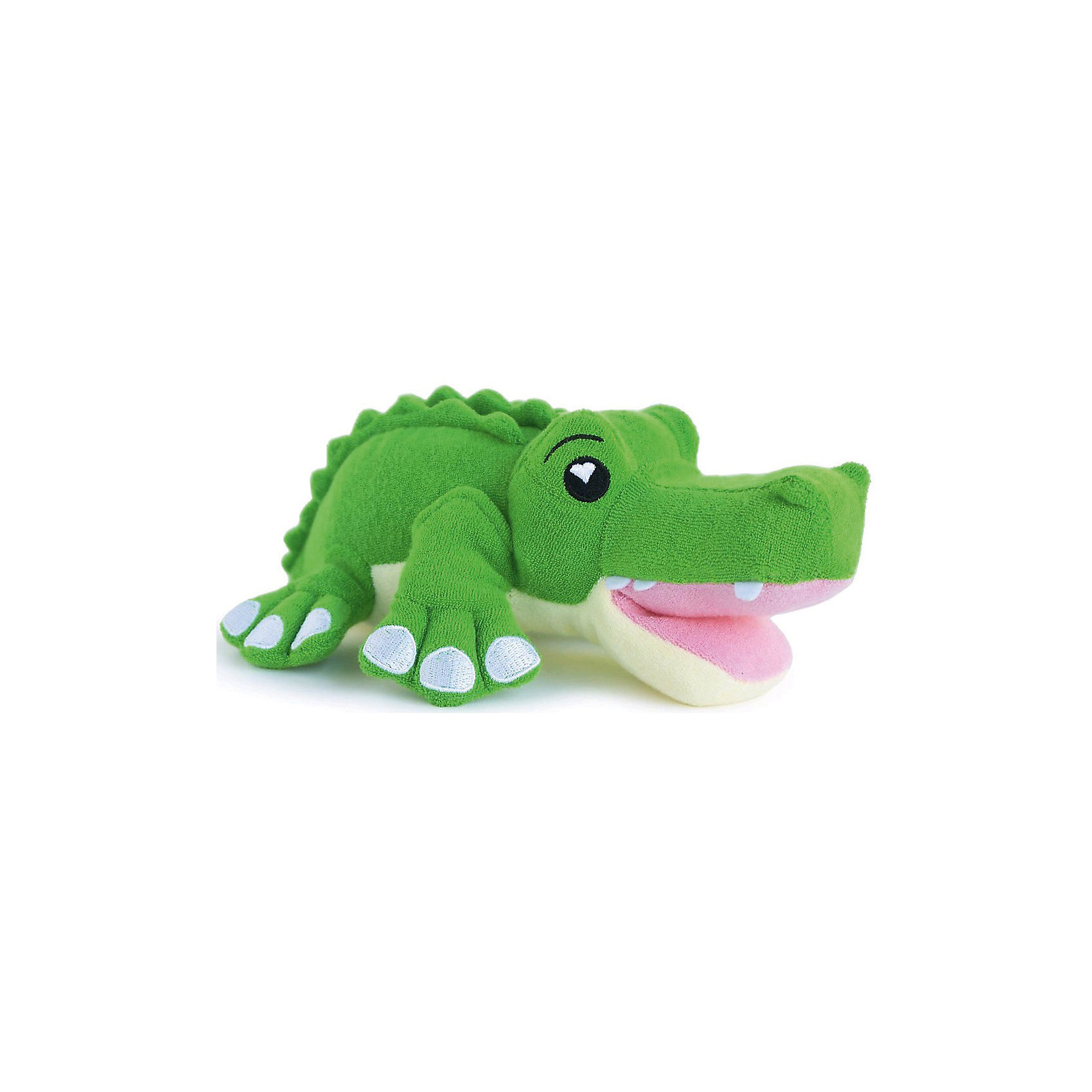 Губка для тела Крокодил Хантер, SoapSoxПолотенца, мочалки, халаты<br>Губка для тела Крокодил Хантер, SoapSox (Соап Сокс) <br><br>Характеристики:<br><br>• выполнена в виде забавного крокодила<br>• хорошо вспенивает мыло<br>• два кармашка для пальцев<br>• удобно сушить<br>• материал: антимикробный полиэстер, губка<br>• размер: 23х7,5х13 см<br>• размер упаковки: 22х8х28 см<br>• вес: 100 грамм<br><br>Губка для тела Крокодил Хантер понравится каждому малышу, ведь она очень милая и, к тому же, создает много пены. Для использования нужно наполнить внутренний карман мылом, а затем опустить губку в воду. Пышная мыльная пена вызовет восторг у вашего крохи! Два боковых кармашка позволят вам удобно зафиксировать губку в руке. Для сушки можно воспользоваться специальным шнурком. С веселым крокодилом Хантером купаться очень интересно!<br><br>Губку для тела Крокодил Хантер, SoapSox (Соап Сокс)  можно купить в нашем интернет-магазине.<br><br>Ширина мм: 28<br>Глубина мм: 22<br>Высота мм: 8<br>Вес г: 0<br>Возраст от месяцев: 12<br>Возраст до месяцев: 72<br>Пол: Унисекс<br>Возраст: Детский<br>SKU: 5489967