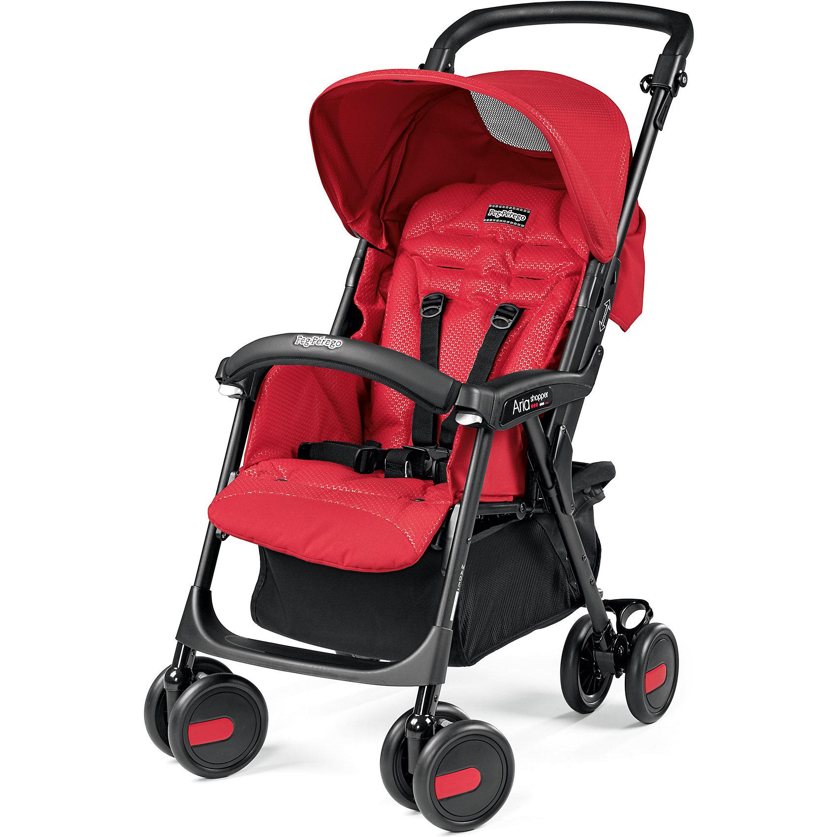 Прогулочная коляска  Aria Shopper, Peg-Perego, Mod RedКоляска детская прогулочная Aria Shopper цвет Mod Red, Peg-Perego (10130010/131216/0031077/1, ИТАЛИЯ)<br><br>Ширина мм: 465<br>Глубина мм: 240<br>Высота мм: 775<br>Вес г: 8700<br>Возраст от месяцев: 6<br>Возраст до месяцев: 36<br>Пол: Унисекс<br>Возраст: Детский<br>SKU: 5489971