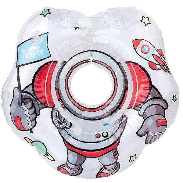 Круг на шею для купания малышей Космонавт Flipper, Roxy-KidsКруги для купания малыша<br>Характеристики:<br><br>• Предназначение: для купания<br>• Пол: универсальный<br>• Цвет: белый, голубой, красный<br>• Материал: поливинилхлорид<br>• Двойные воздушные камеры<br>• Наличие шариков-погремушек в круге<br>• Тип застежки: карабин и липучка<br>• Фиксация не шее<br>• Вес: 250 г<br>• Размеры (Д*Ш*В): 15*10*15 см<br>• Особенности ухода: влажная чистка<br><br>Круг на шею для купания малышей Космонавт Flipper, Roxy-Kids предназначен для купания малыша в ванной или бассейне. Его конструкция продумана до мелочей: двойная воздушная камера, двойная застежка (карабин и липучка), полукруглые ручки по бокам – все это обеспечивает надежное и безопасное использование. Круг крепится на шее, при этом не ограничивая повороты головой и не пропуская воду внутрь. Круг выполнен из поливинилхлорида – прочного материала без запаха. Круг выполнен в ярком дизайне: с изображением силуэта космонавта.<br><br>Круг на шею для купания малышей Космонавт Flipper, Roxy-Kids можно купить в нашем интернет-магазине.<br>Ширина мм: 150; Глубина мм: 100; Высота мм: 150; Вес г: 250; Возраст от месяцев: 0; Возраст до месяцев: 18; Пол: Унисекс; Возраст: Детский; SKU: 5490339;